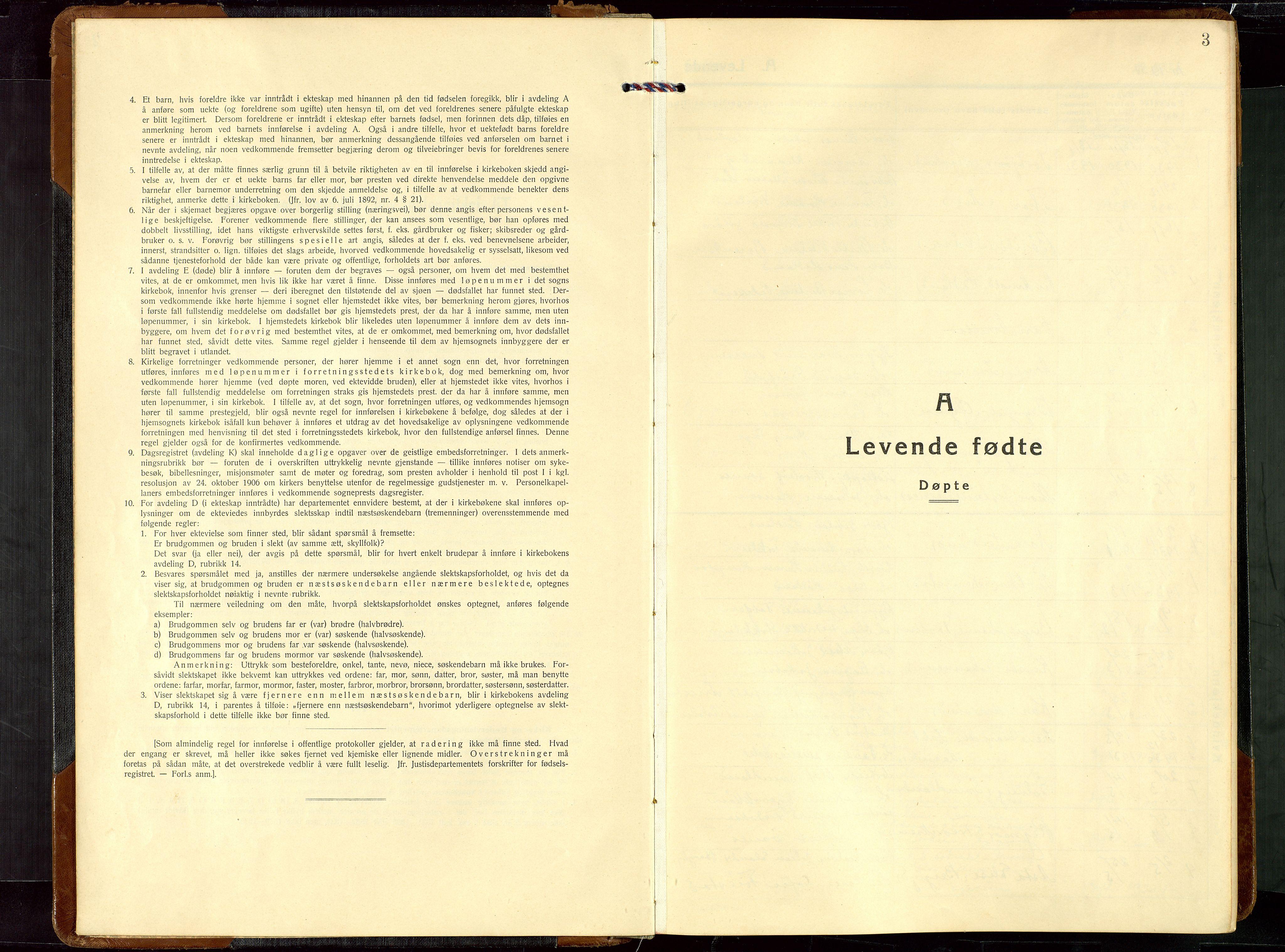 SAST, Egersund sokneprestkontor, Klokkerbok nr. B 14, 1931-1949, s. 3