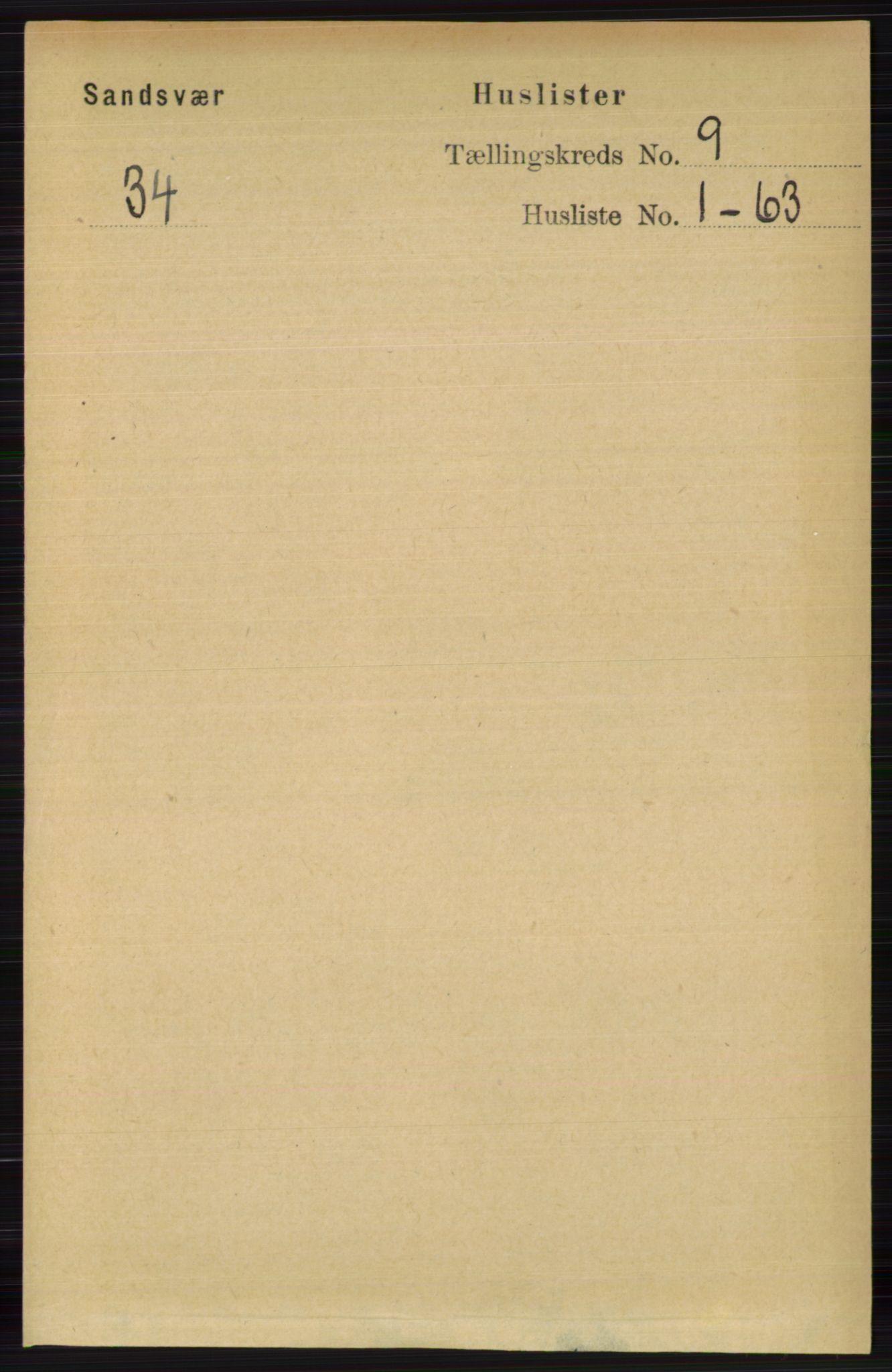 RA, Folketelling 1891 for 0629 Sandsvær herred, 1891, s. 4362