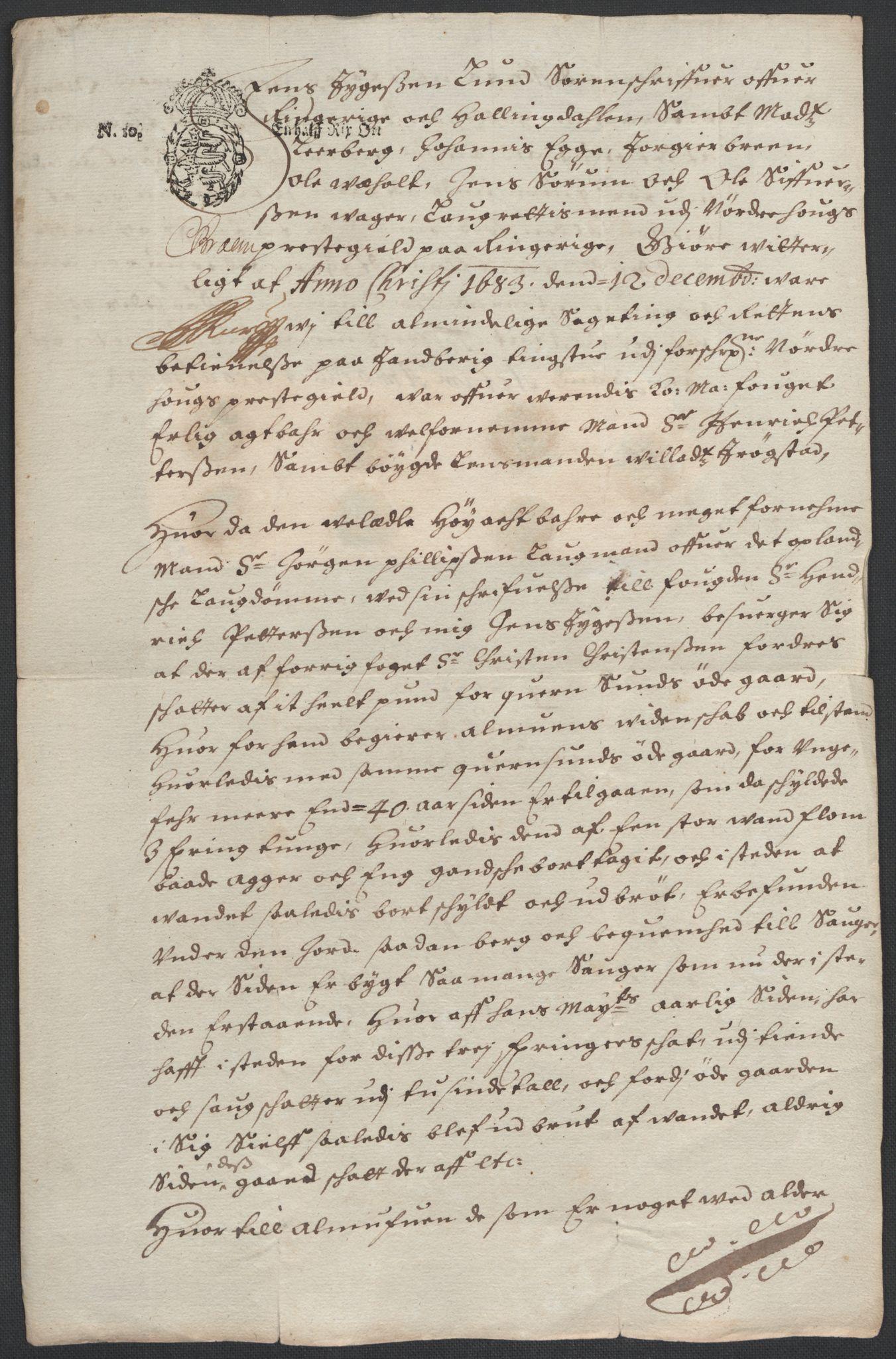 RA, Rentekammeret inntil 1814, Reviderte regnskaper, Fogderegnskap, R21/L1446: Fogderegnskap Ringerike og Hallingdal, 1683-1686, s. 408