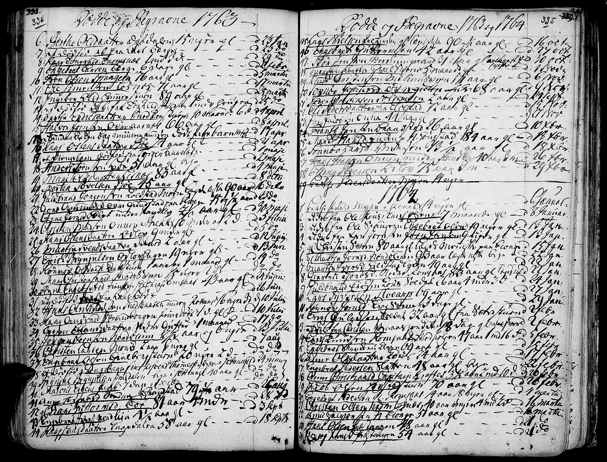 SAH, Ringebu prestekontor, Ministerialbok nr. 2, 1734-1780, s. 334-335