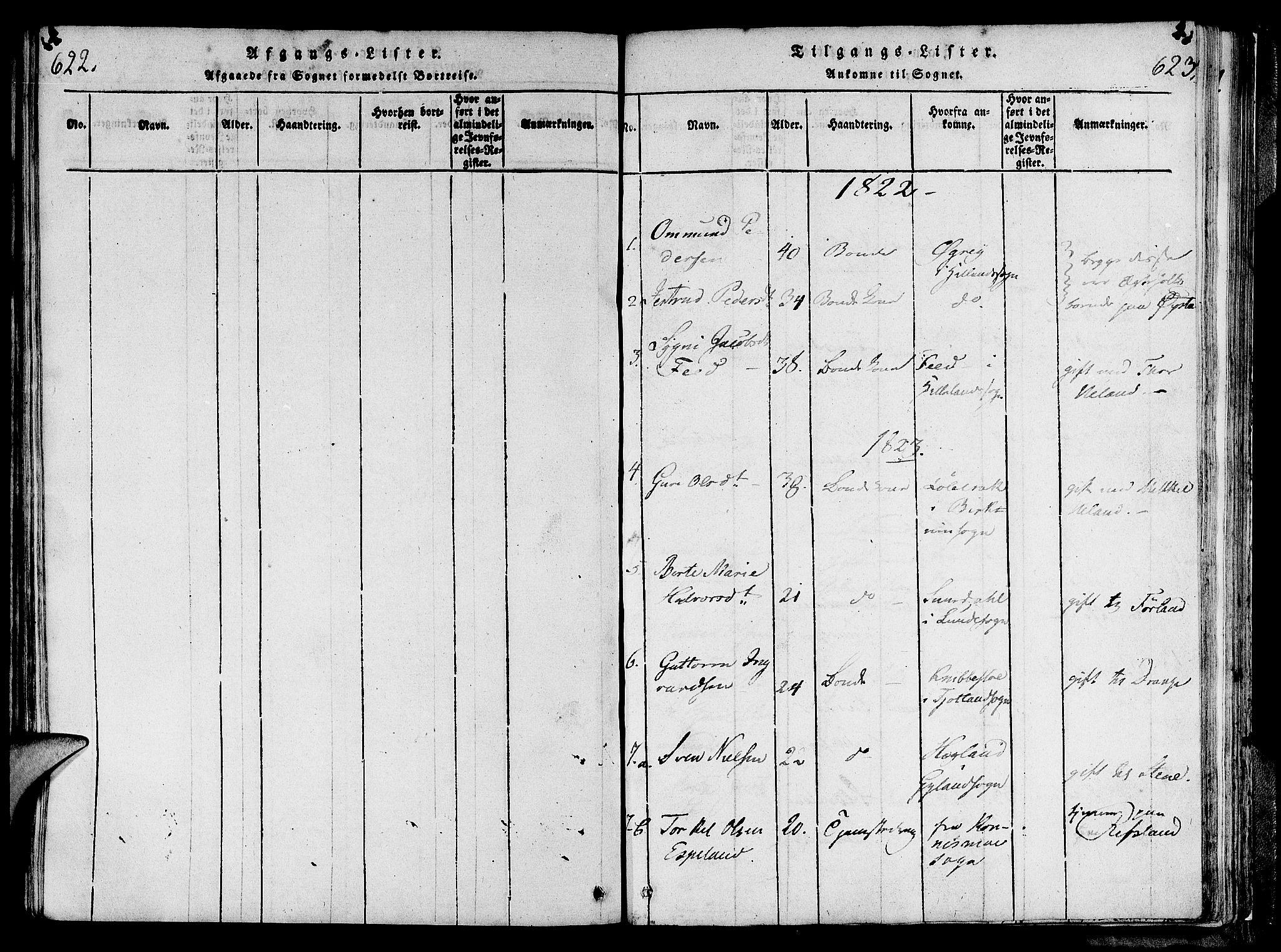 SAST, Lund sokneprestkontor, Ministerialbok nr. A 6, 1816-1839, s. 622-623