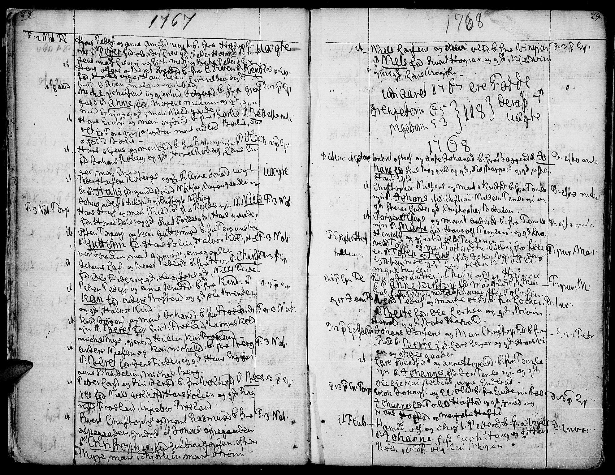 SAH, Land prestekontor, Ministerialbok nr. 5, 1765-1784, s. 28-29