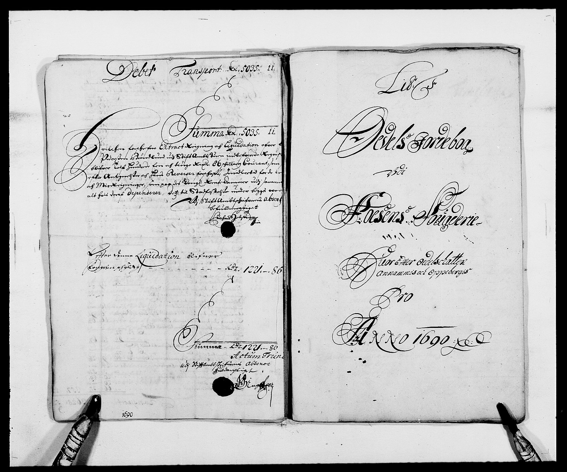 RA, Rentekammeret inntil 1814, Reviderte regnskaper, Fogderegnskap, R57/L3848: Fogderegnskap Fosen, 1690-1691, s. 84