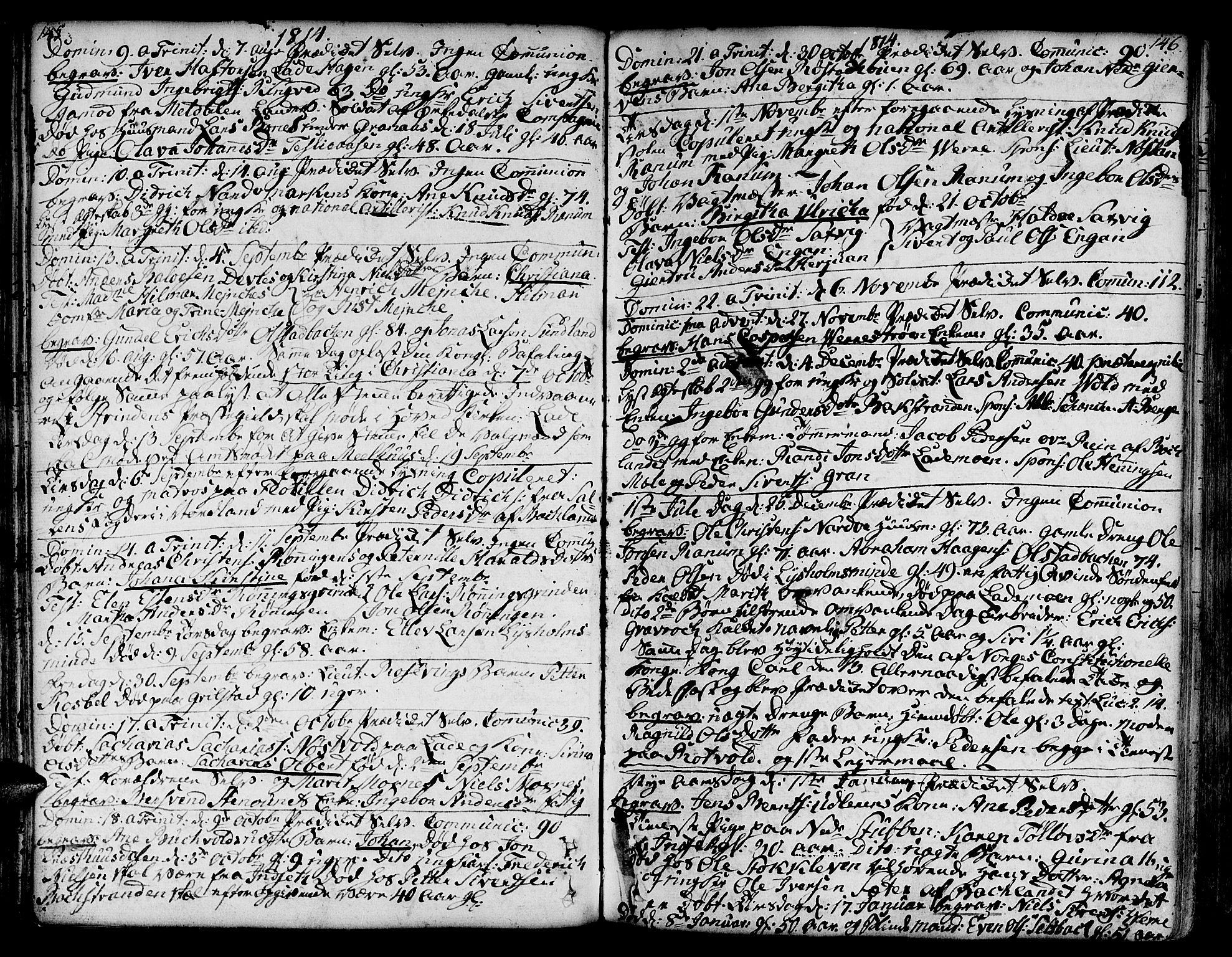 SAT, Ministerialprotokoller, klokkerbøker og fødselsregistre - Sør-Trøndelag, 606/L0280: Ministerialbok nr. 606A02 /1, 1781-1817, s. 145-146