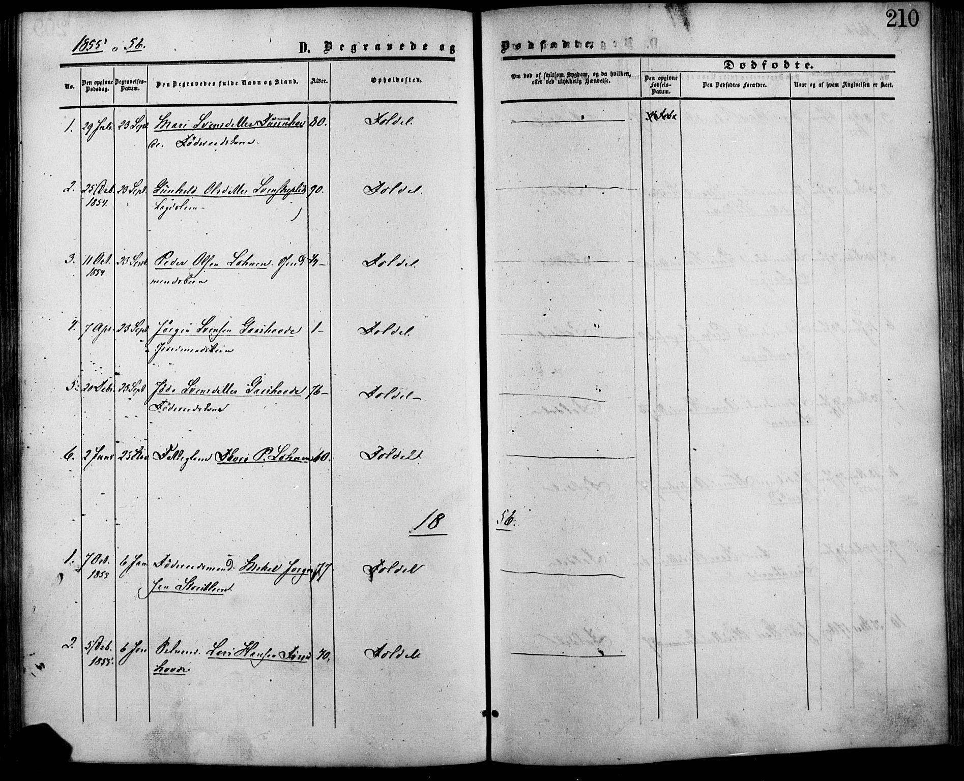 SAH, Lesja prestekontor, Ministerialbok nr. 7, 1854-1862, s. 210