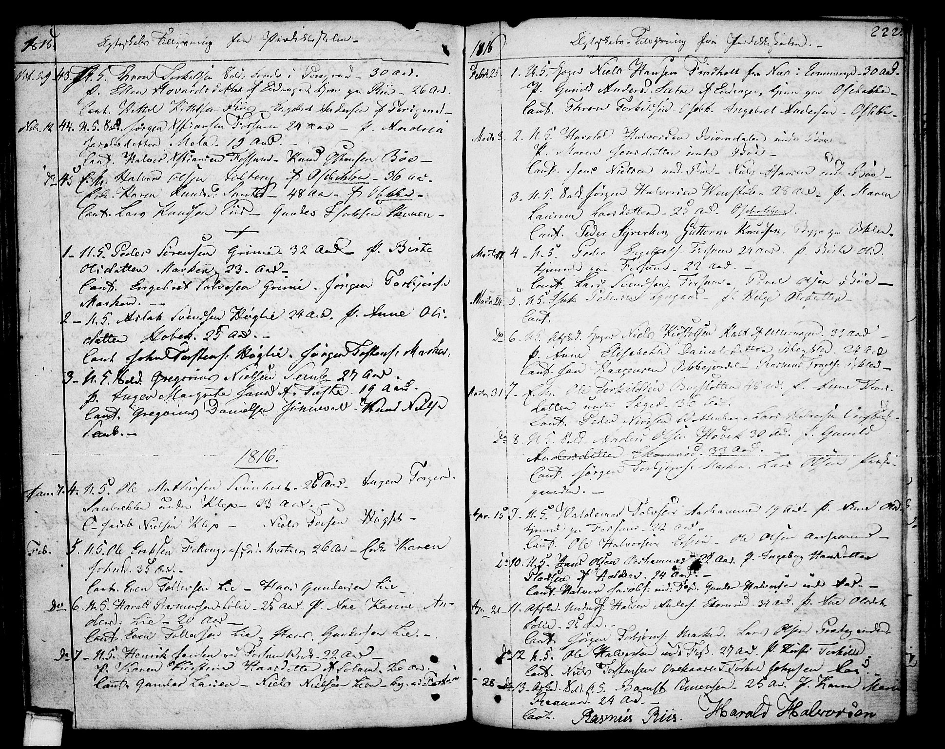 SAKO, Gjerpen kirkebøker, F/Fa/L0003: Ministerialbok nr. 3, 1796-1814, s. 222