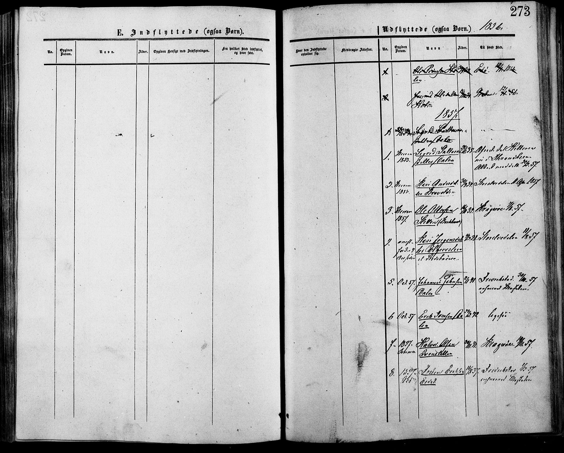 SAH, Lesja prestekontor, Ministerialbok nr. 7, 1854-1862, s. 273