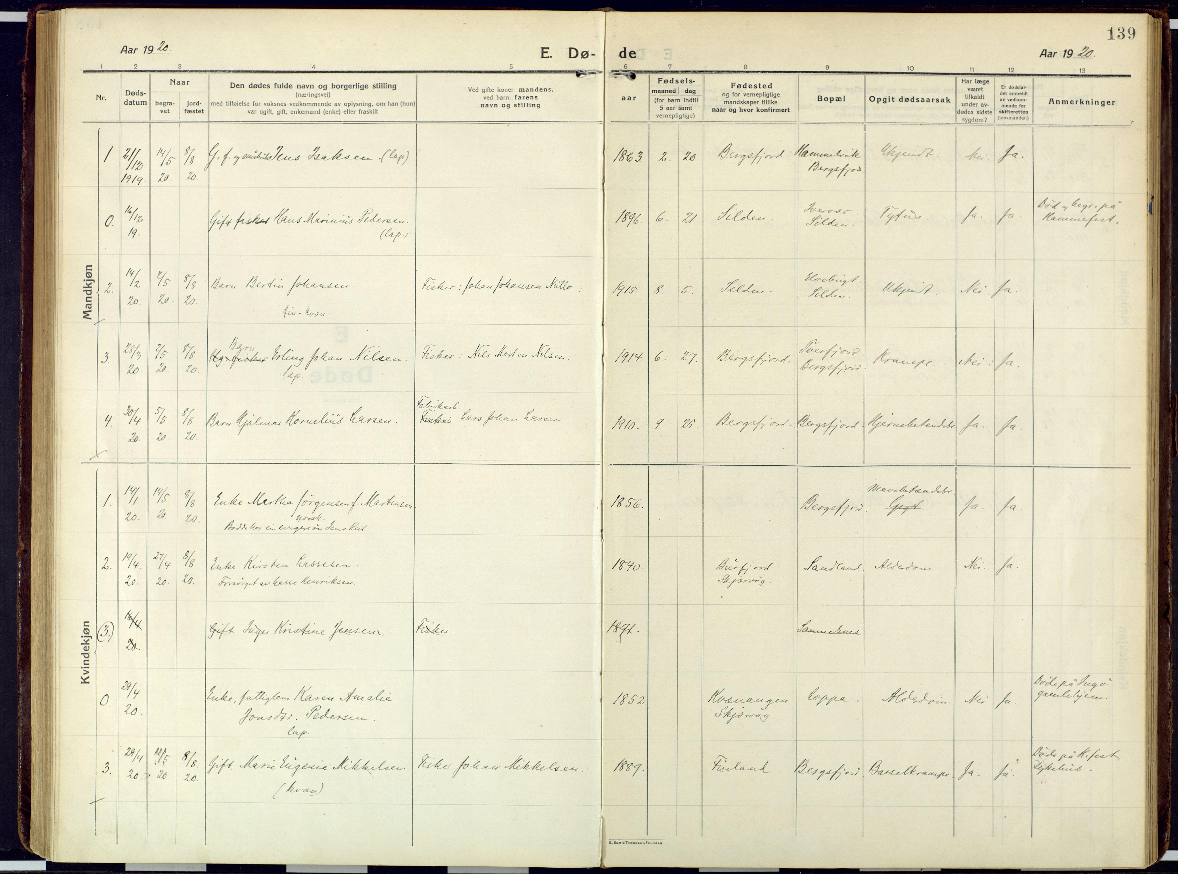 SATØ, Loppa sokneprestkontor, H/Ha/L0013kirke: Ministerialbok nr. 13, 1920-1932, s. 139