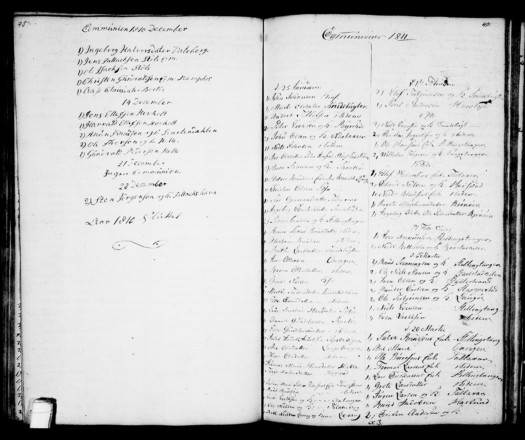 SAKO, Kragerø kirkebøker, G/Ga/L0001: Klokkerbok nr. 1 /2, 1806-1811, s. 48-49