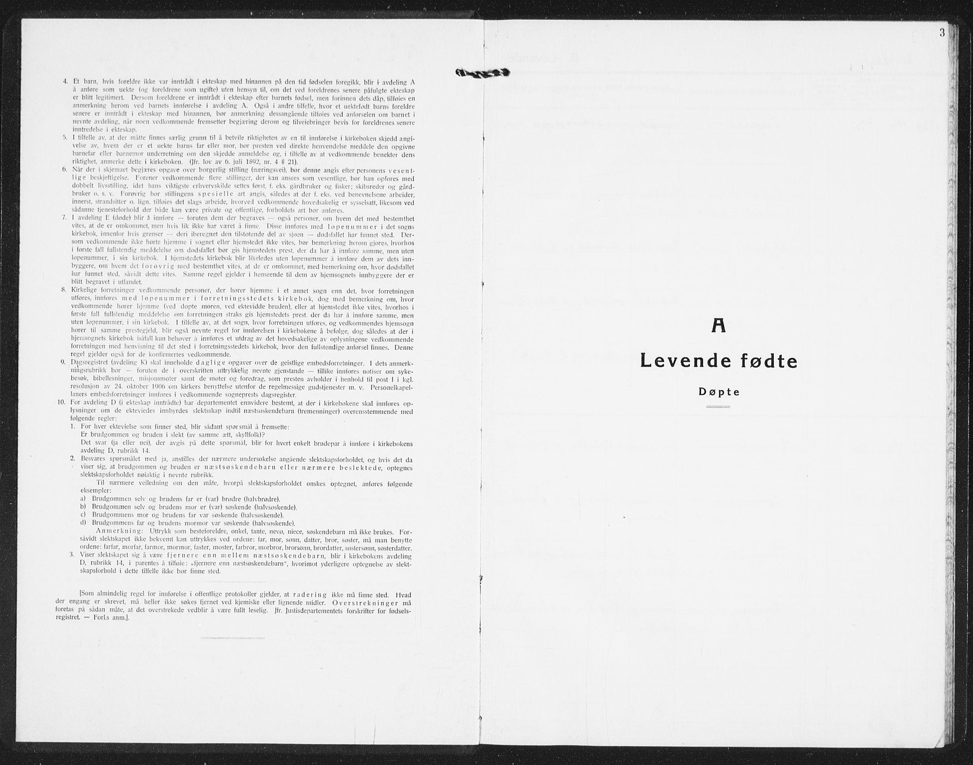 SAST, Time sokneprestkontor, 30BB/L0002: Klokkerbok nr. B 2, 1932-1944, s. 3
