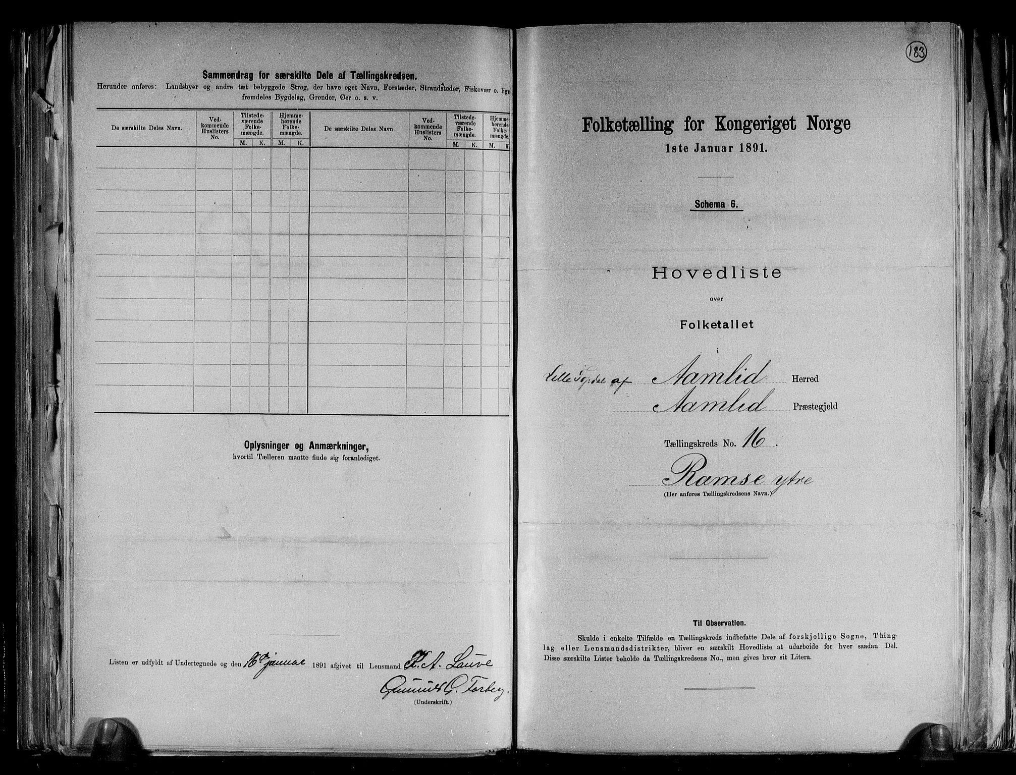 RA, Folketelling 1891 for 0929 Åmli herred, 1891, s. 35
