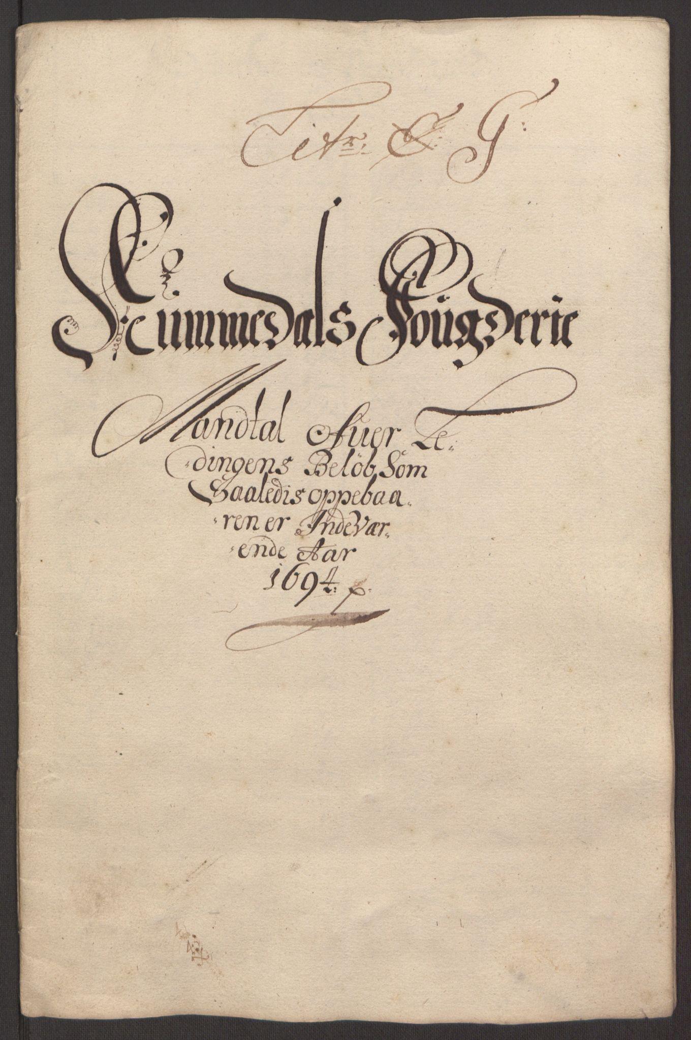 RA, Rentekammeret inntil 1814, Reviderte regnskaper, Fogderegnskap, R64/L4424: Fogderegnskap Namdal, 1692-1695, s. 379