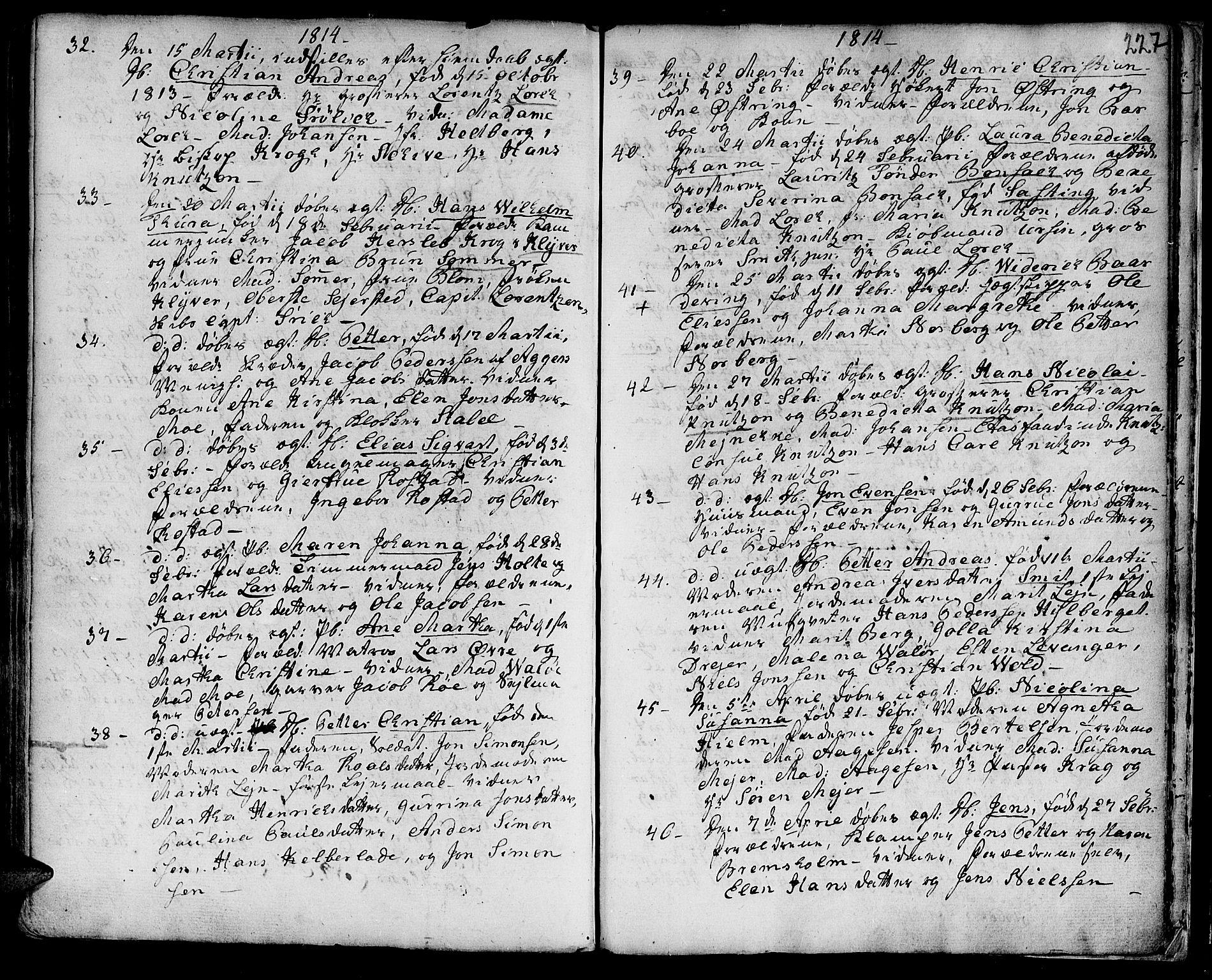 SAT, Ministerialprotokoller, klokkerbøker og fødselsregistre - Sør-Trøndelag, 601/L0039: Ministerialbok nr. 601A07, 1770-1819, s. 227