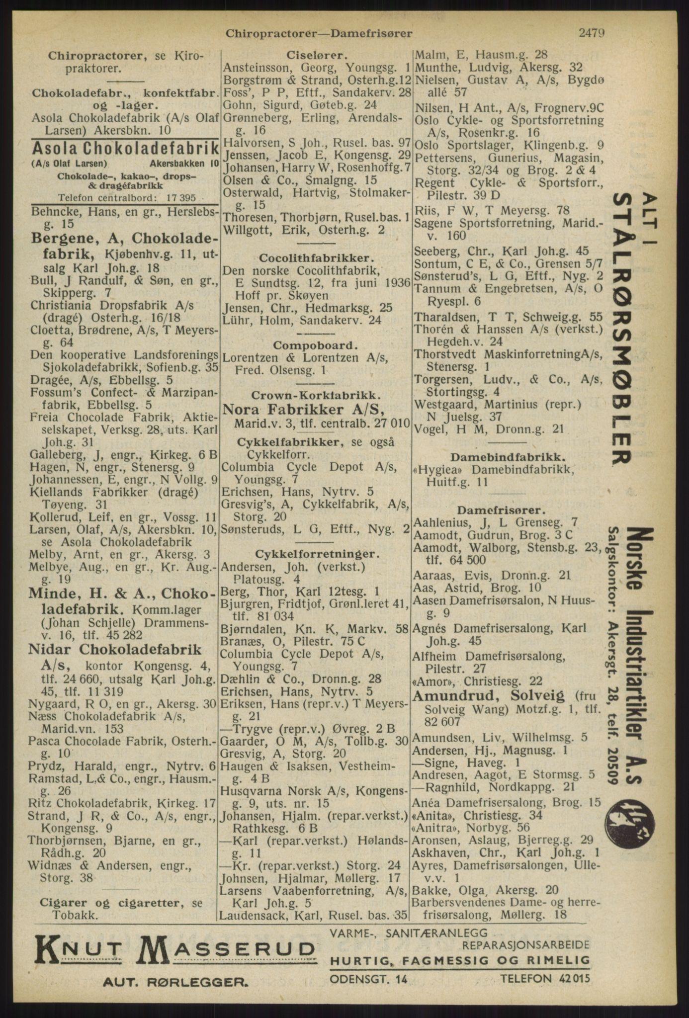 RA, Oslo adressebok (publikasjon)*, 1936, s. 2479