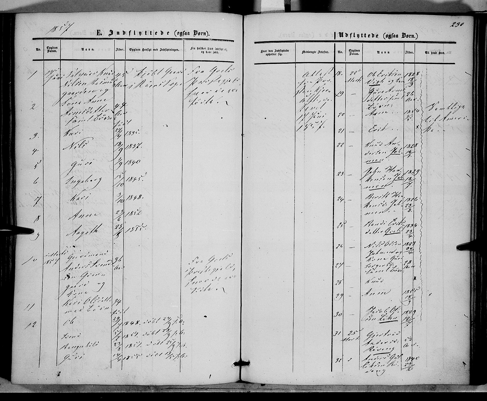 SAH, Vestre Slidre prestekontor, Ministerialbok nr. 2, 1856-1864, s. 230