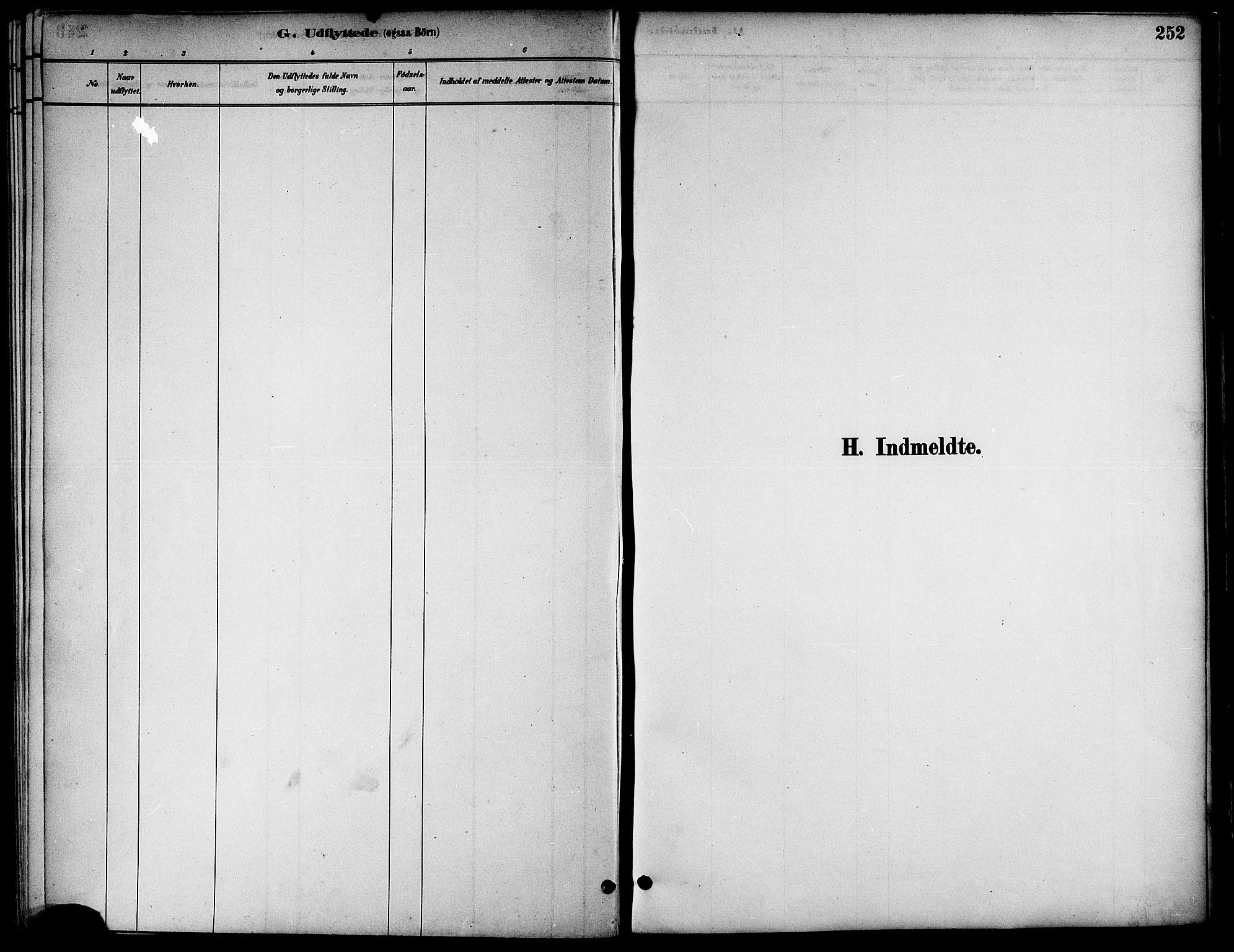 SAT, Ministerialprotokoller, klokkerbøker og fødselsregistre - Nord-Trøndelag, 739/L0371: Ministerialbok nr. 739A03, 1881-1895, s. 252