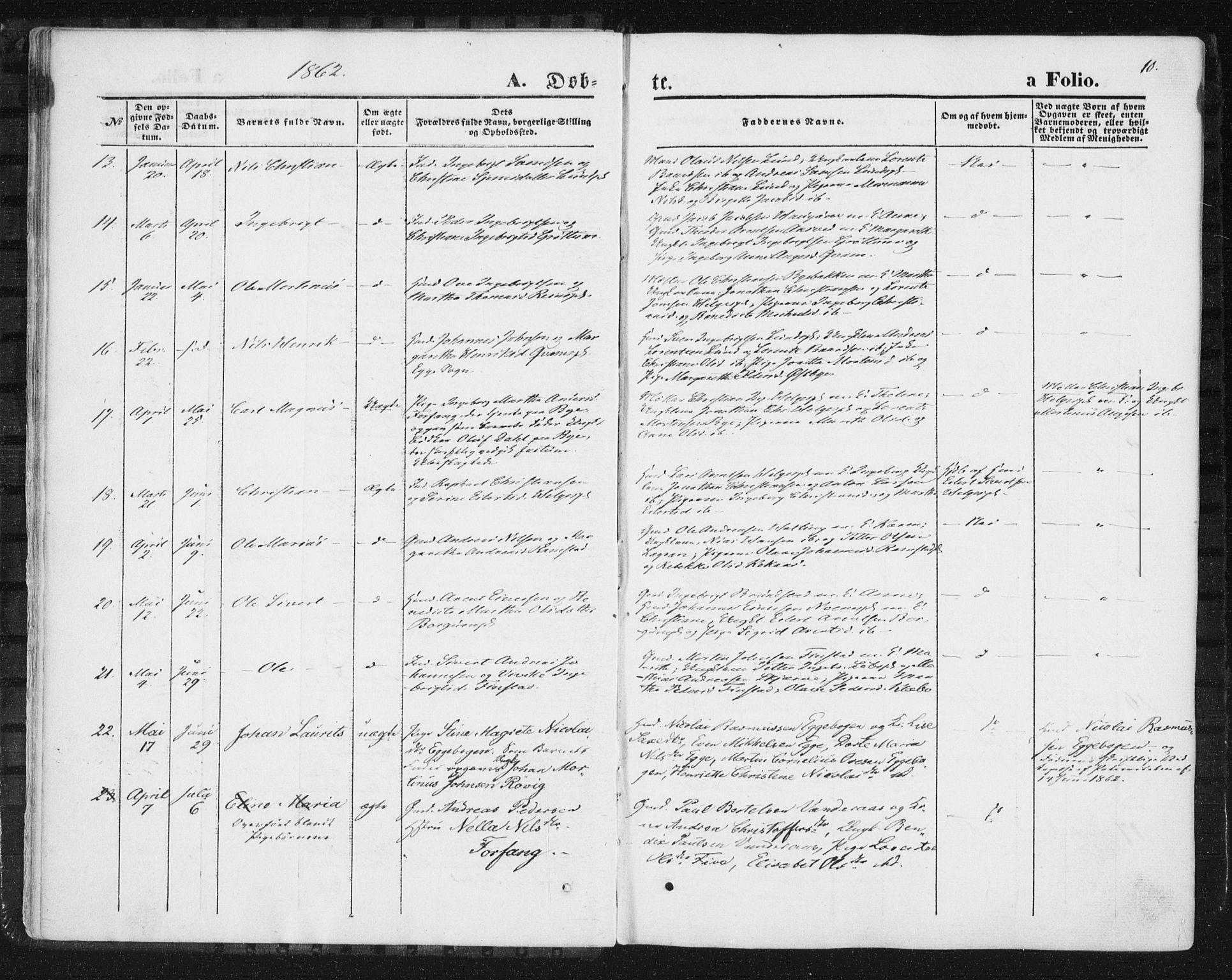 SAT, Ministerialprotokoller, klokkerbøker og fødselsregistre - Nord-Trøndelag, 746/L0447: Ministerialbok nr. 746A06, 1860-1877, s. 10