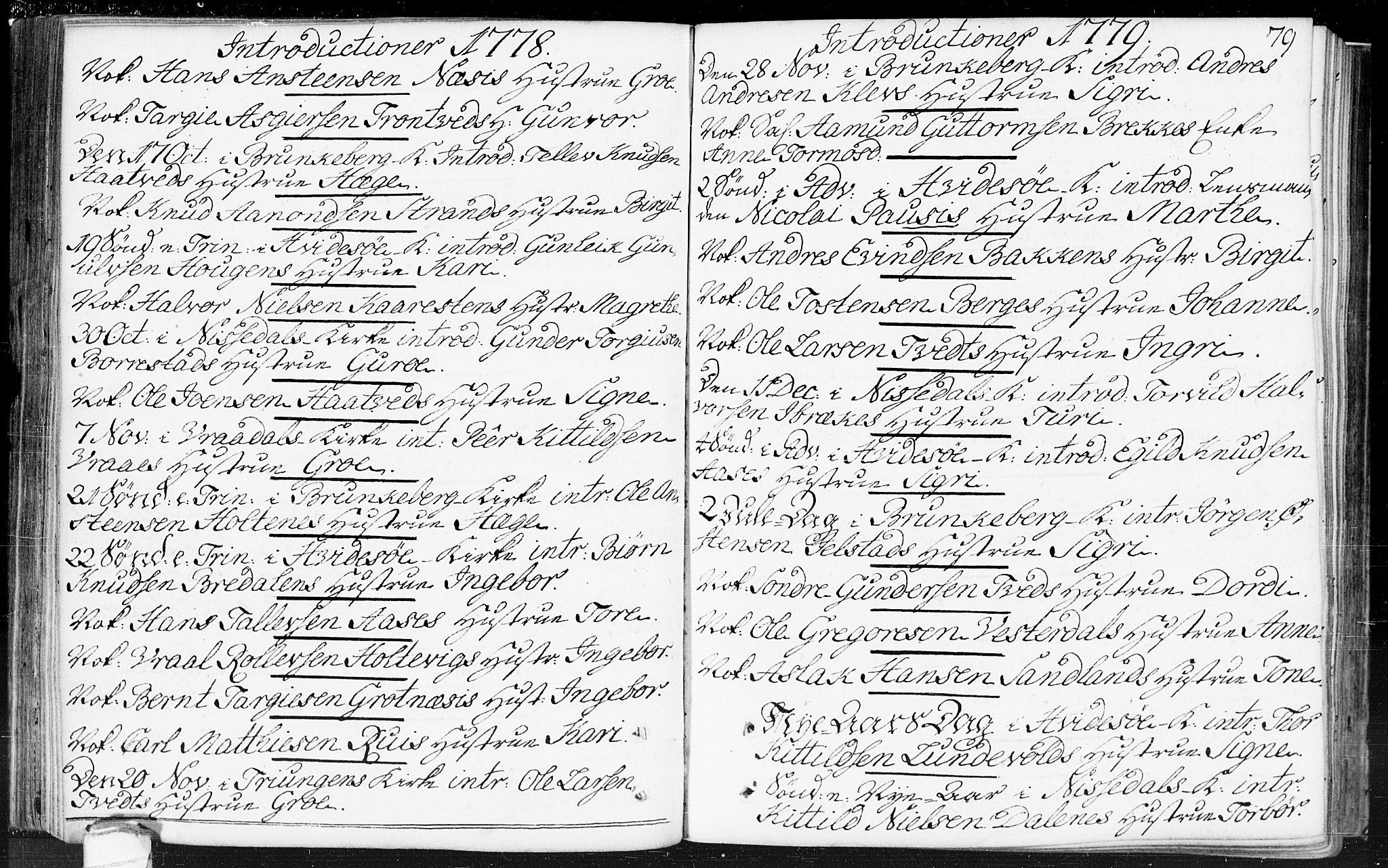 SAKO, Kviteseid kirkebøker, F/Fa/L0002: Ministerialbok nr. I 2, 1773-1786, s. 79