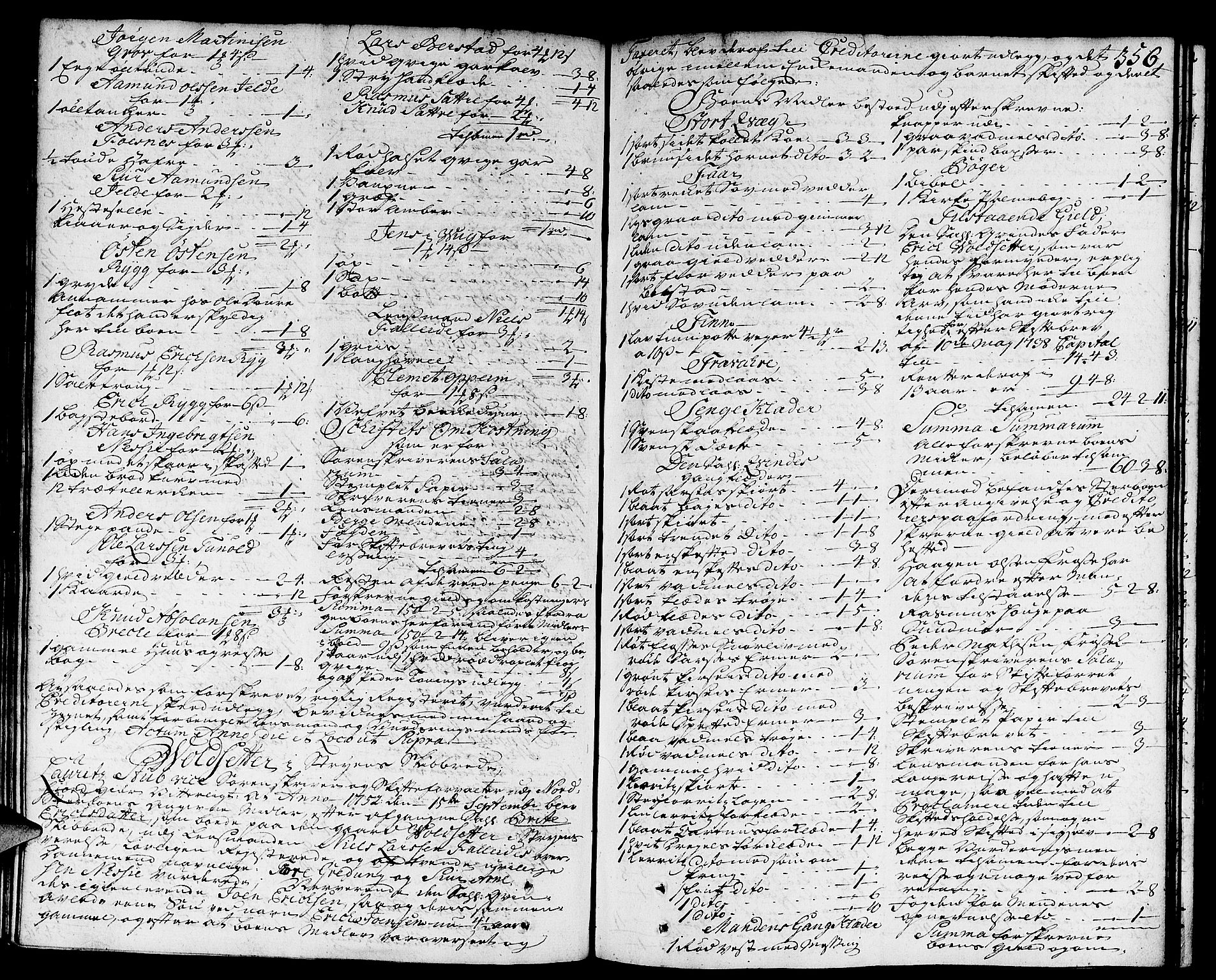 SAB, Nordfjord Sorenskriveri, 04/04a/L0011: Skifteprotokollar, 1750-1753, s. 355b-356a