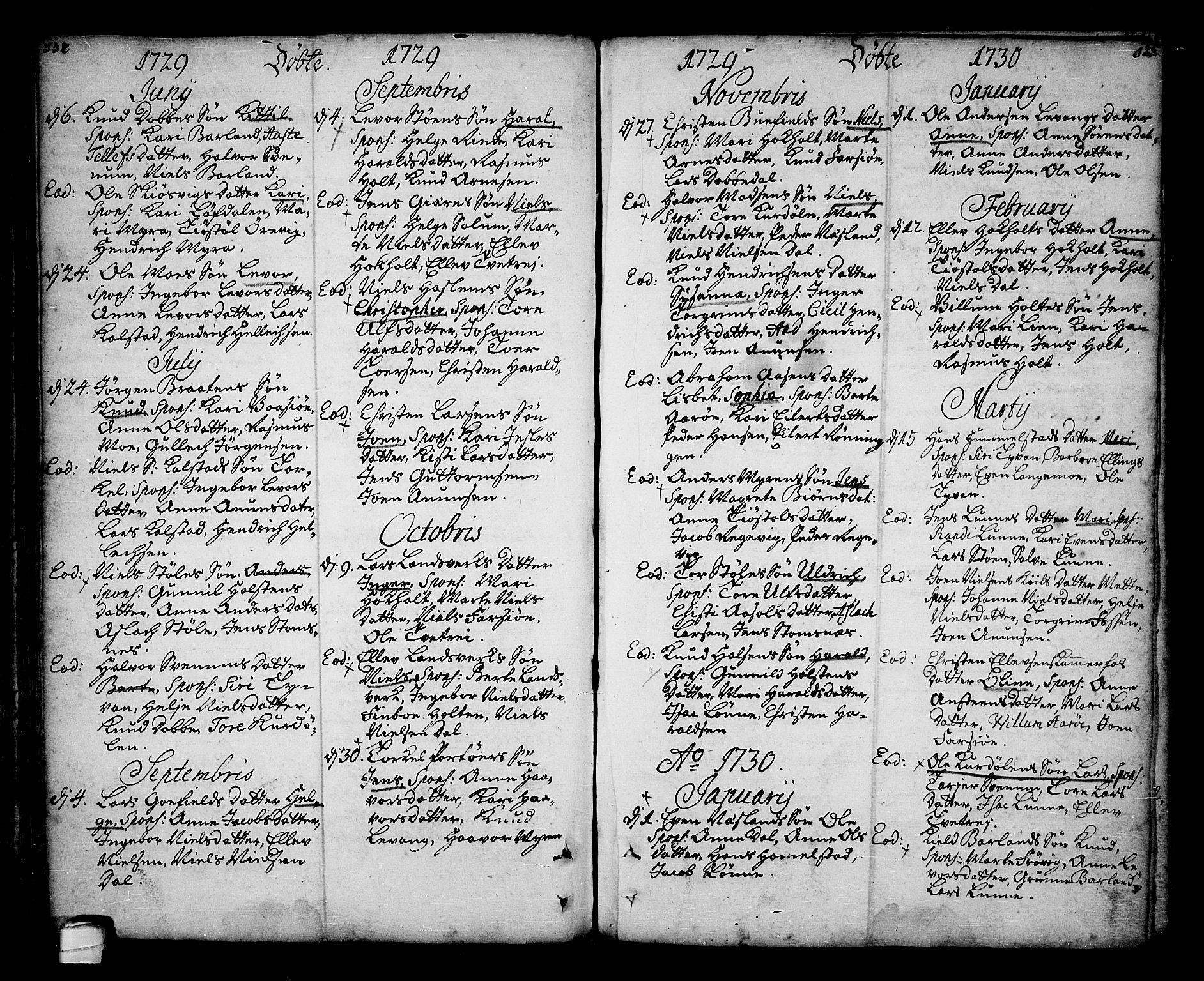 SAKO, Sannidal kirkebøker, F/Fa/L0001: Ministerialbok nr. 1, 1702-1766, s. 132-133