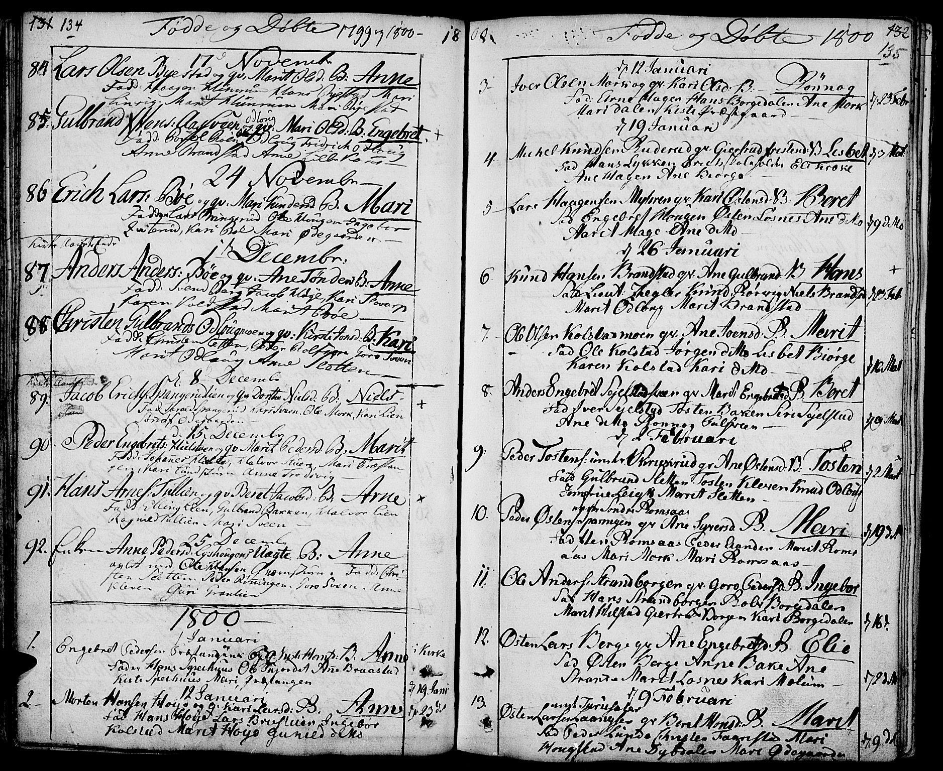 SAH, Ringebu prestekontor, Ministerialbok nr. 3, 1781-1820, s. 134-135