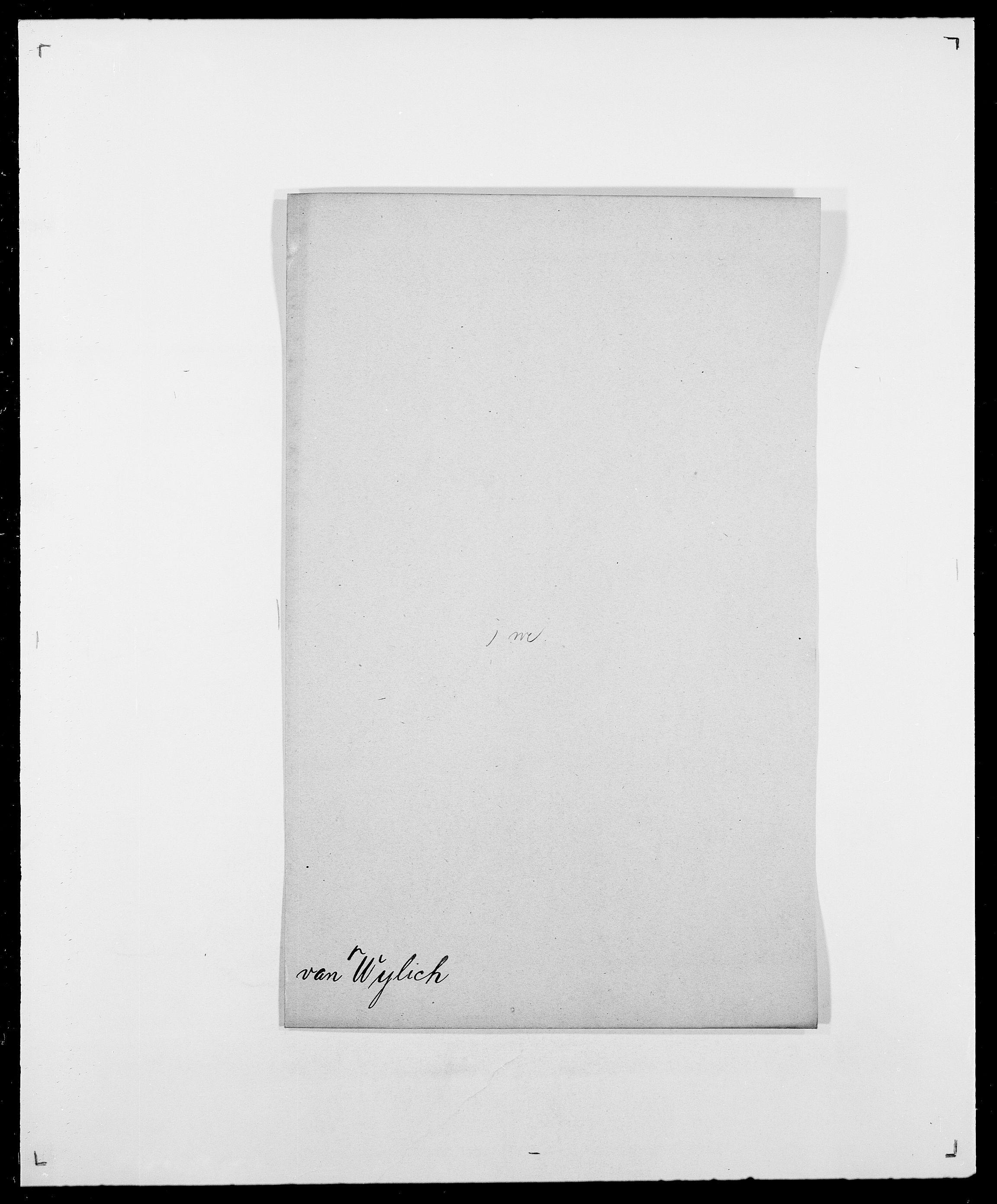 SAO, Delgobe, Charles Antoine - samling, D/Da/L0043: Wulfsberg - v. Zanten, s. 16