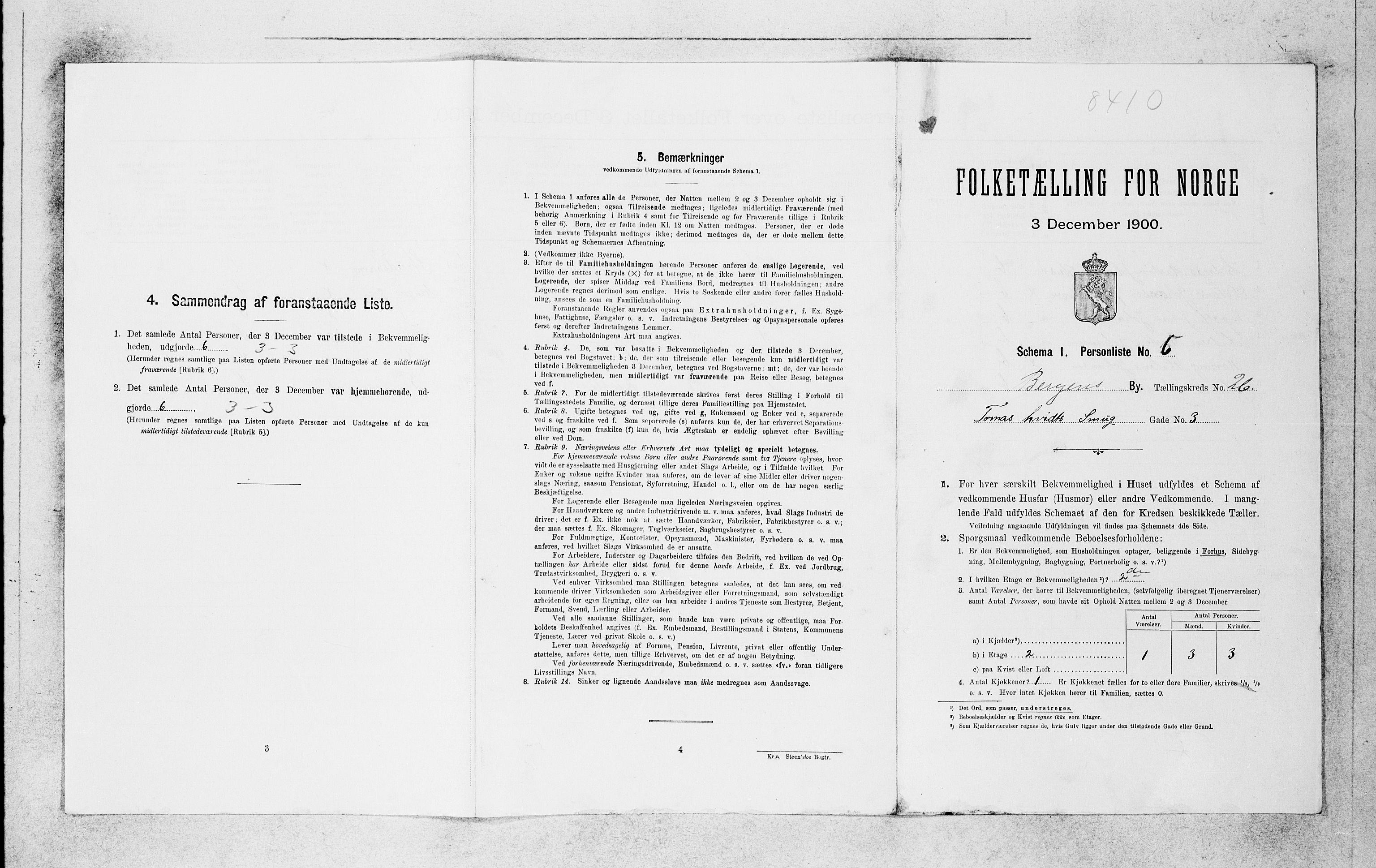 SAB, Folketelling 1900 for 1301 Bergen kjøpstad, 1900, s. 5496