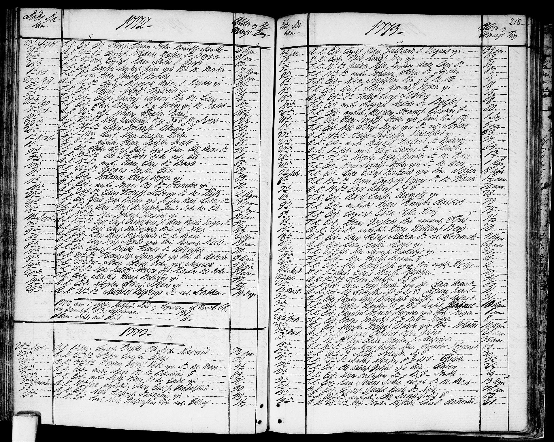 SAO, Asker prestekontor Kirkebøker, F/Fa/L0003: Ministerialbok nr. I 3, 1767-1807, s. 218