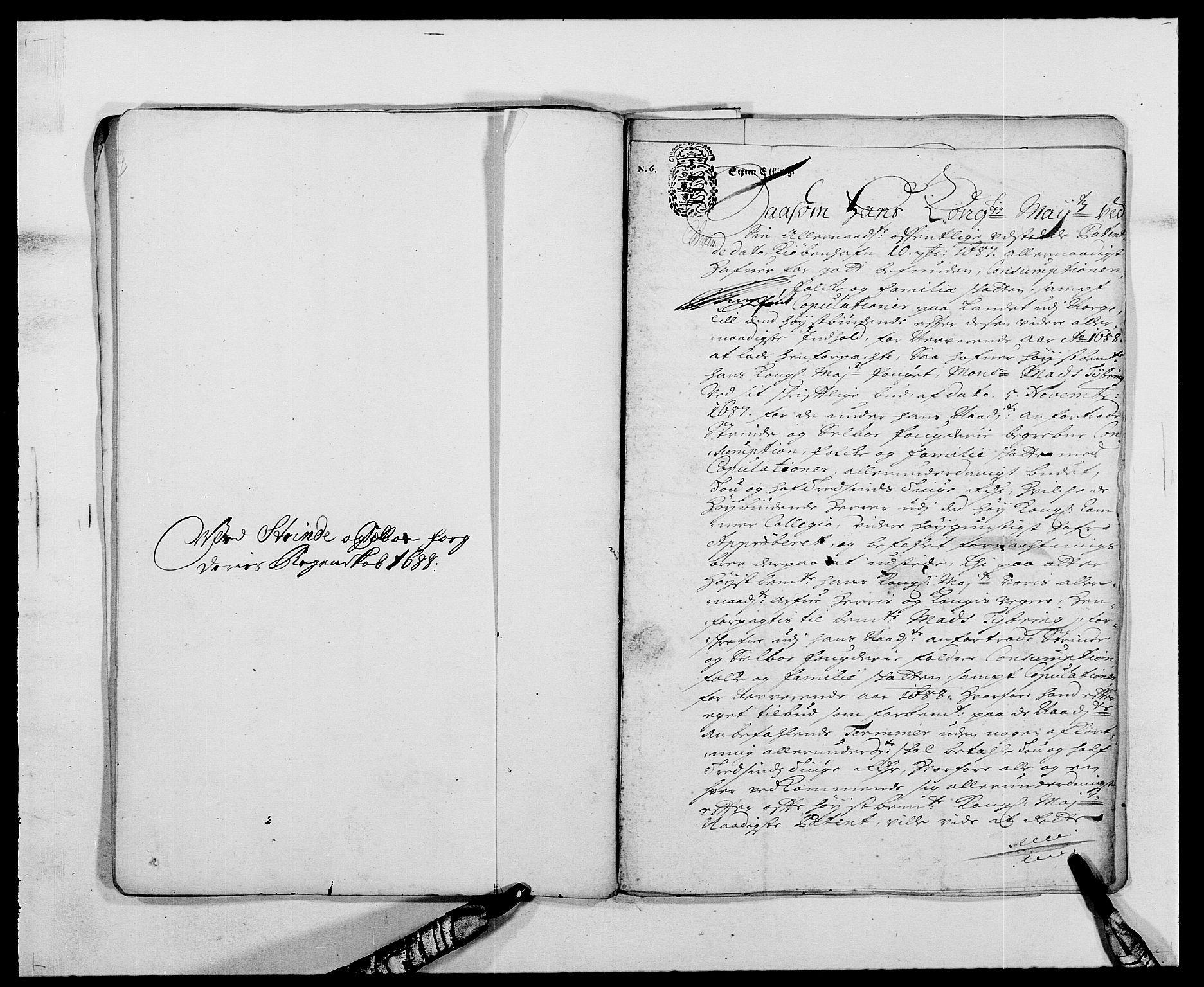 RA, Rentekammeret inntil 1814, Reviderte regnskaper, Fogderegnskap, R61/L4101: Fogderegnskap Strinda og Selbu, 1687-1688, s. 201