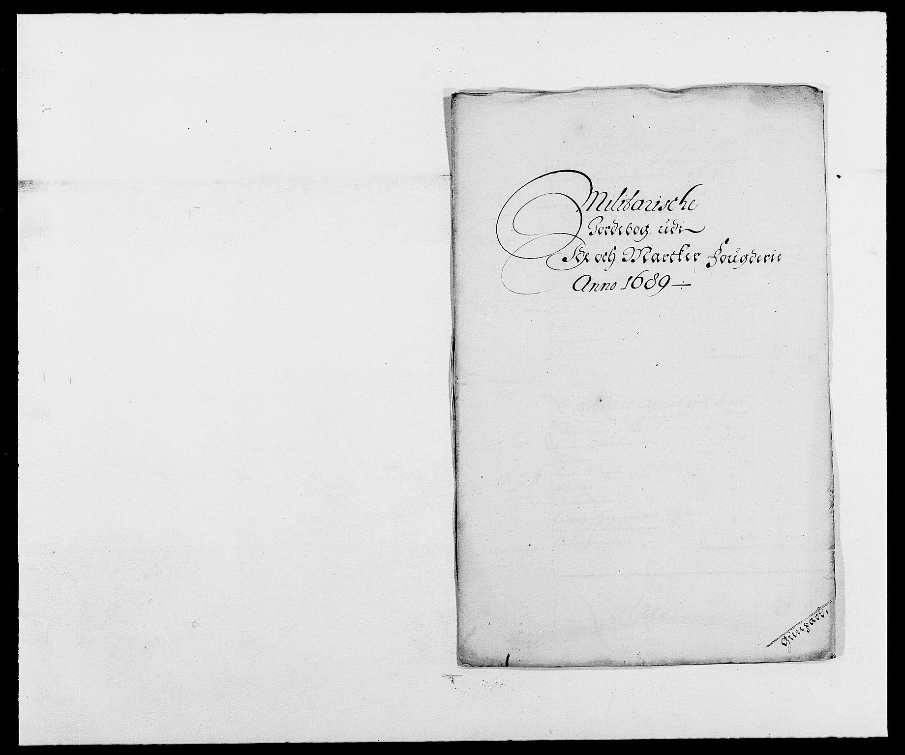 RA, Rentekammeret inntil 1814, Reviderte regnskaper, Fogderegnskap, R01/L0008: Fogderegnskap Idd og Marker, 1689, s. 275