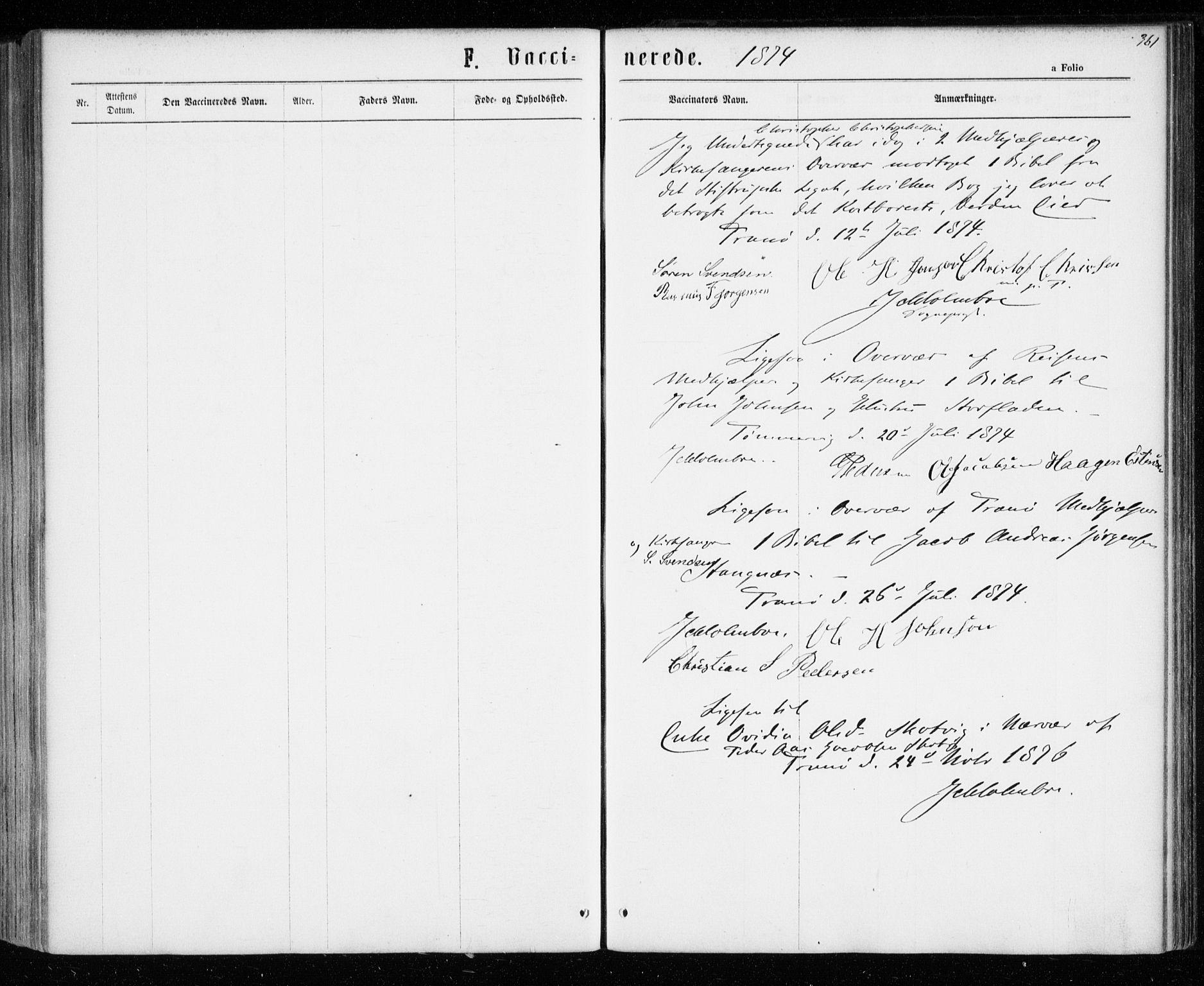 SATØ, Tranøy sokneprestkontor, I/Ia/Iaa/L0008kirke: Ministerialbok nr. 8, 1867-1877, s. 361