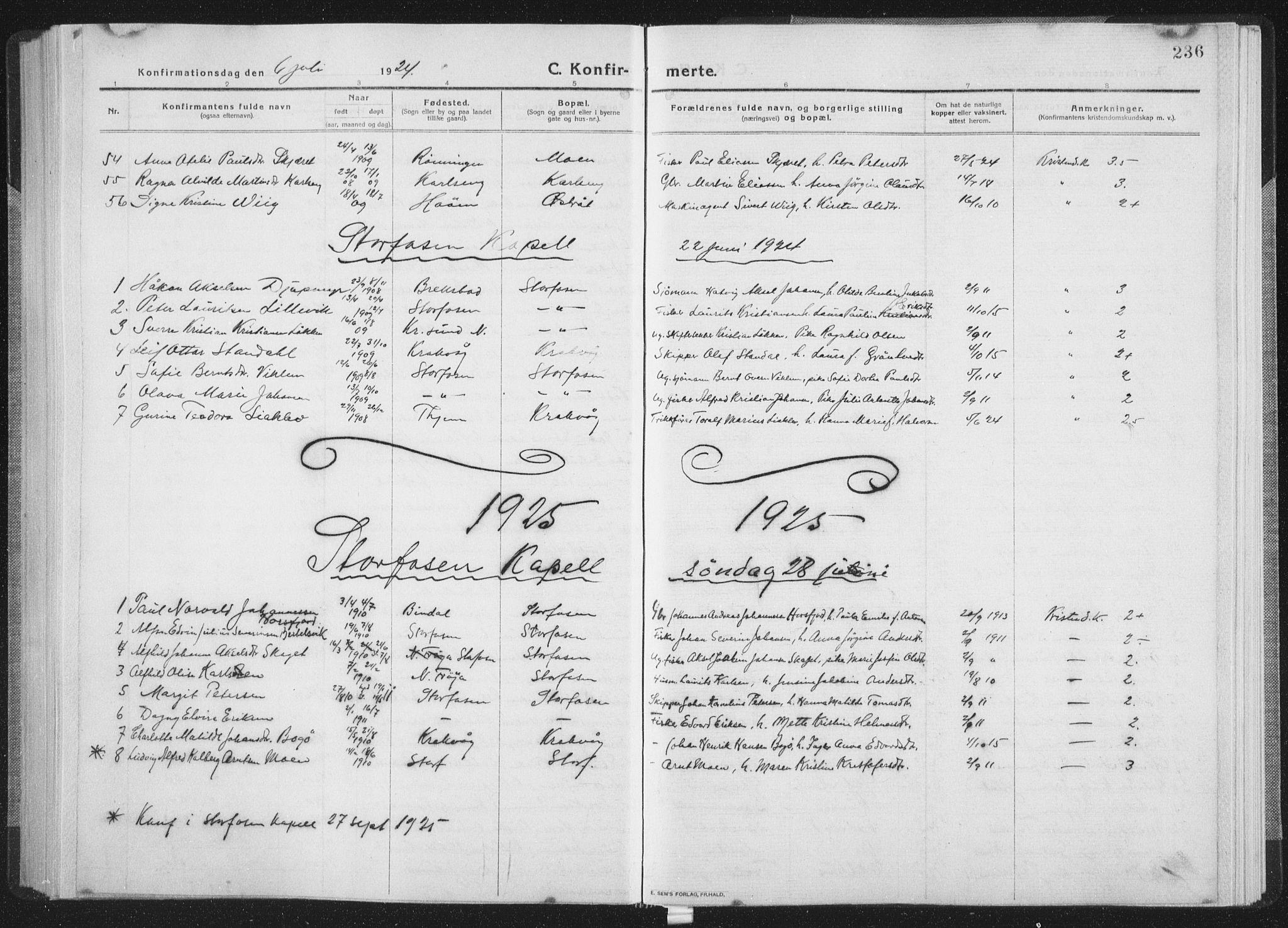 SAT, Ministerialprotokoller, klokkerbøker og fødselsregistre - Sør-Trøndelag, 659/L0747: Klokkerbok nr. 659C04, 1913-1938, s. 236