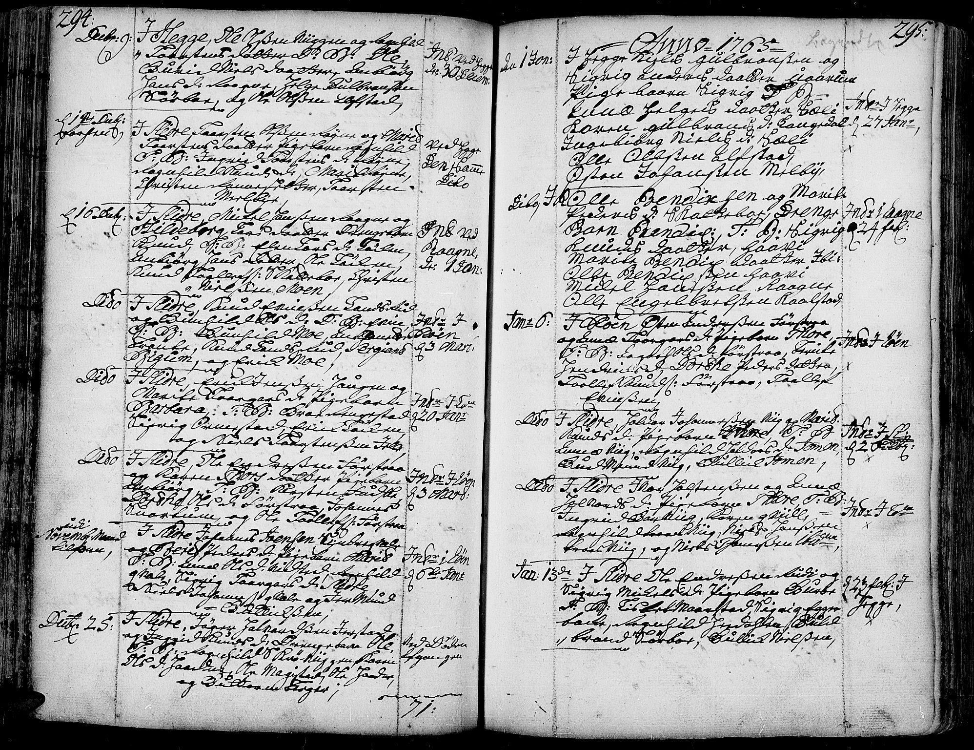 SAH, Slidre prestekontor, Ministerialbok nr. 1, 1724-1814, s. 294-295