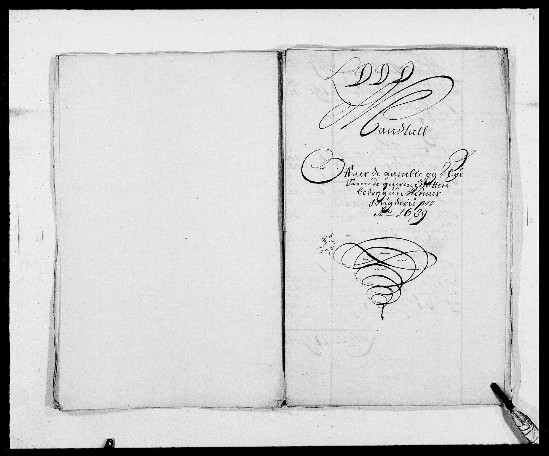 RA, Rentekammeret inntil 1814, Reviderte regnskaper, Fogderegnskap, R39/L2309: Fogderegnskap Nedenes, 1684-1689, s. 327