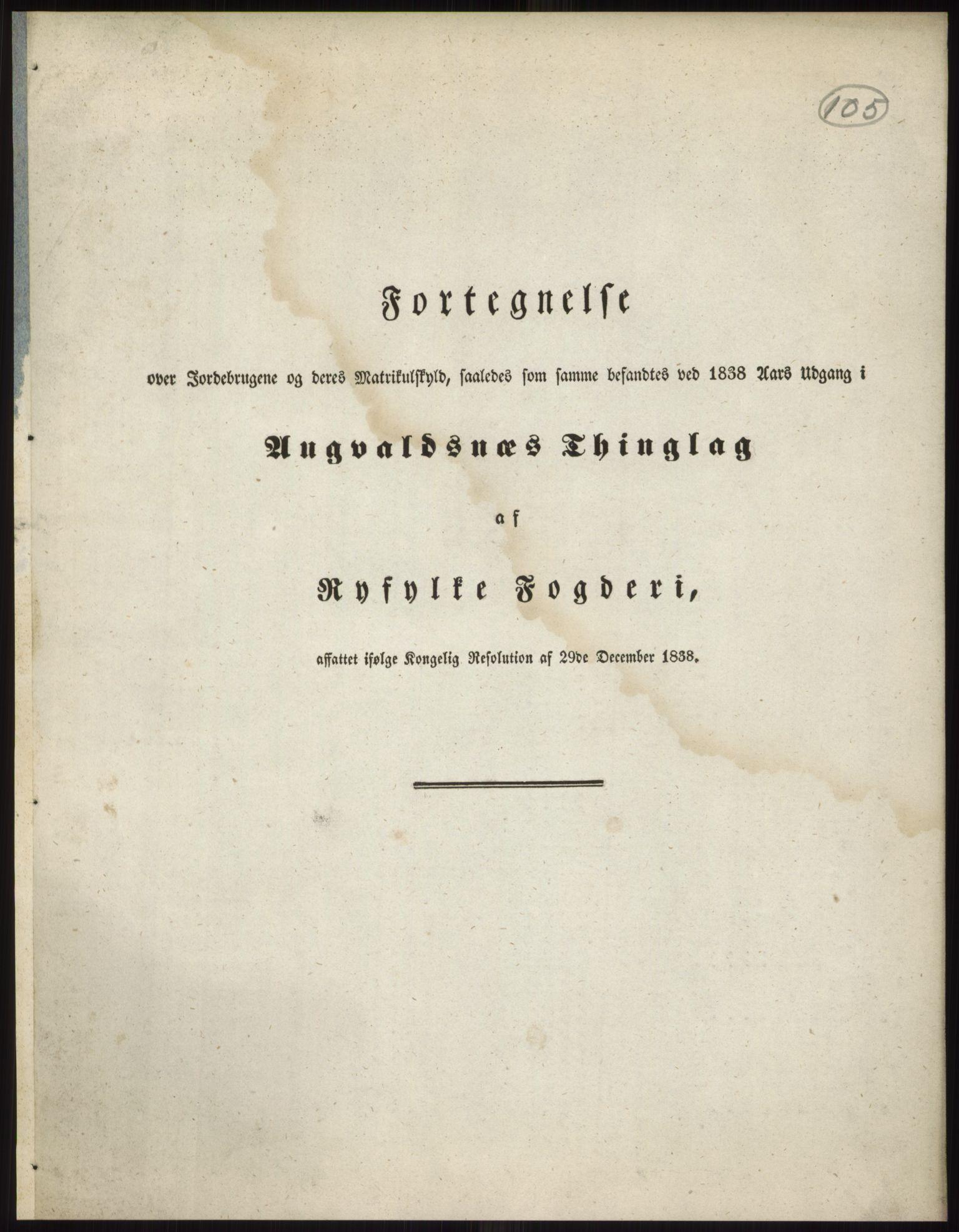 RA, 1838-matrikkelen (publikasjon)*, 1838, s. 105
