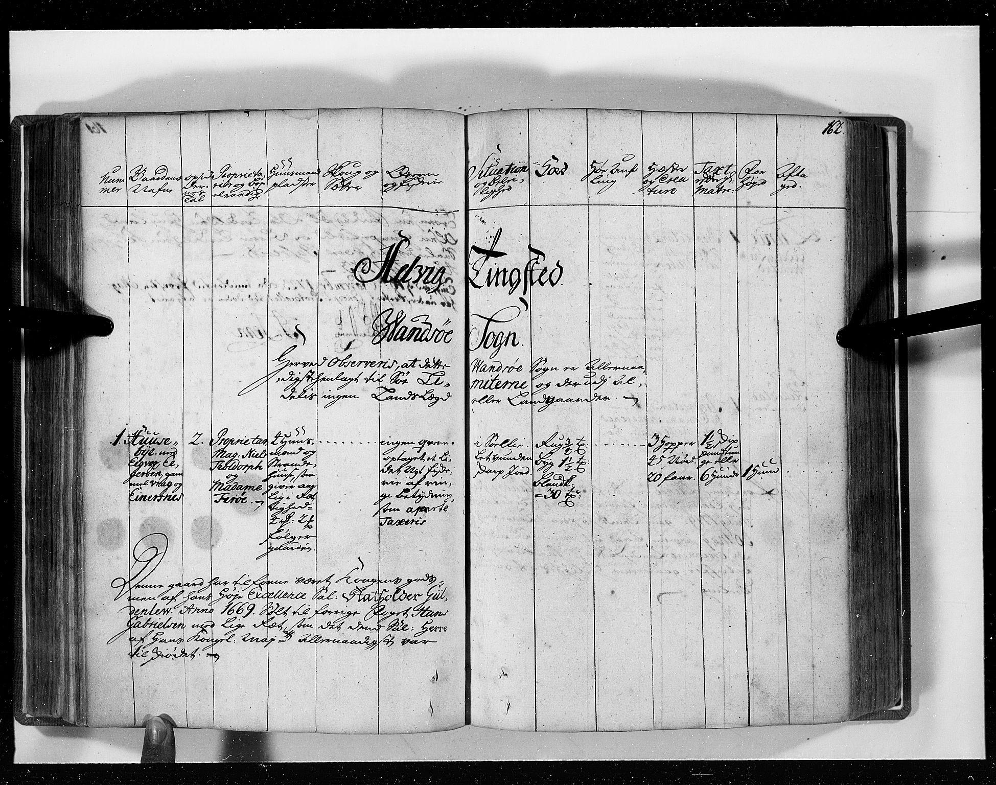 RA, Rentekammeret inntil 1814, Realistisk ordnet avdeling, N/Nb/Nbf/L0129: Lista eksaminasjonsprotokoll, 1723, s. 161b-162a