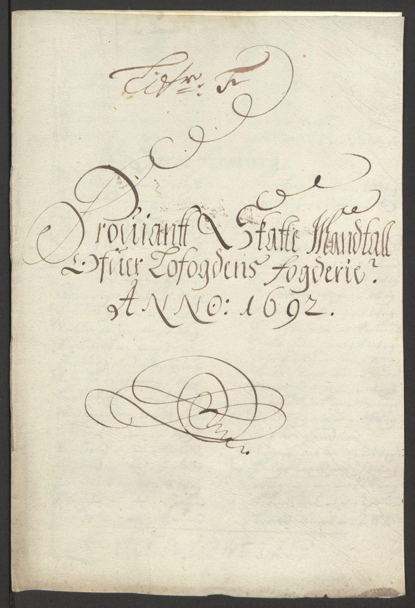 RA, Rentekammeret inntil 1814, Reviderte regnskaper, Fogderegnskap, R67/L4675: Fogderegnskap Vesterålen, Andenes og Lofoten, 1691-1693, s. 167