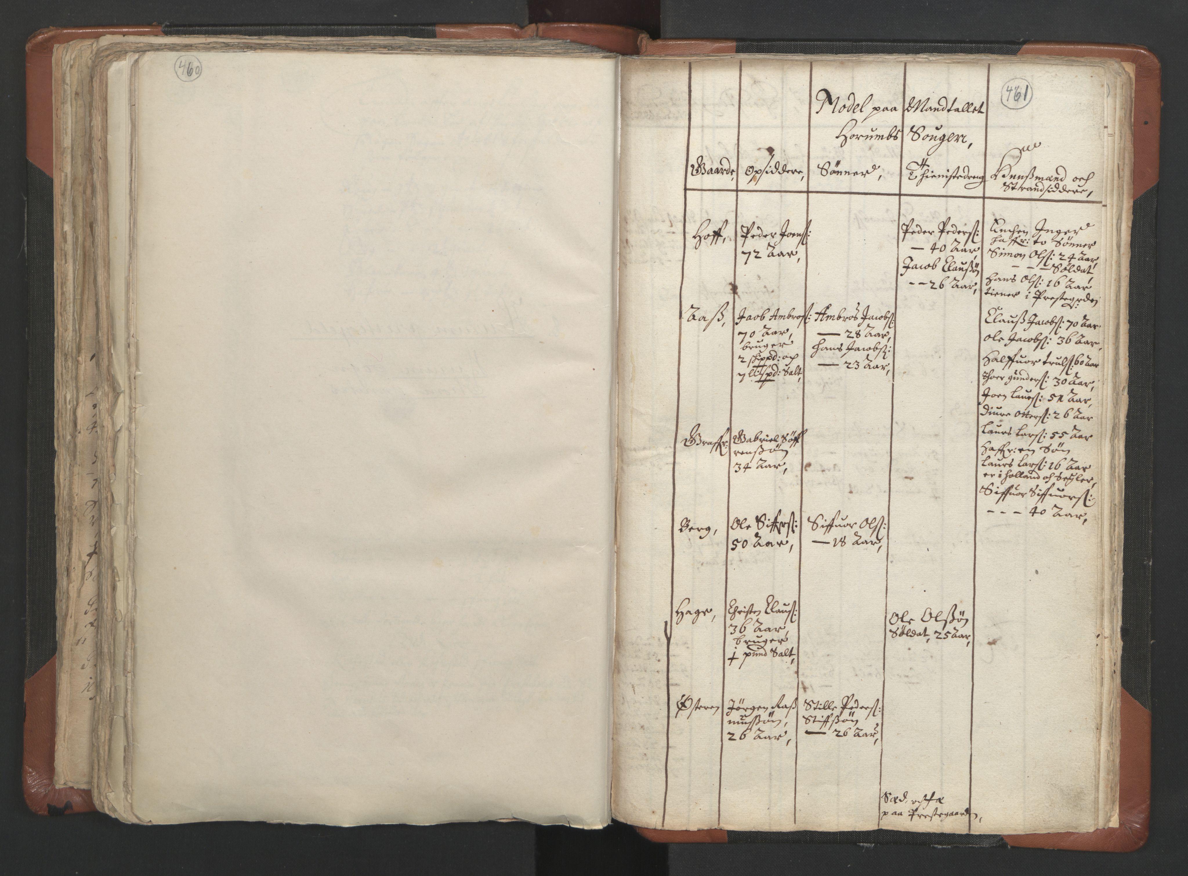 RA, Sogneprestenes manntall 1664-1666, nr. 9: Bragernes prosti, 1664-1666, s. 460-461