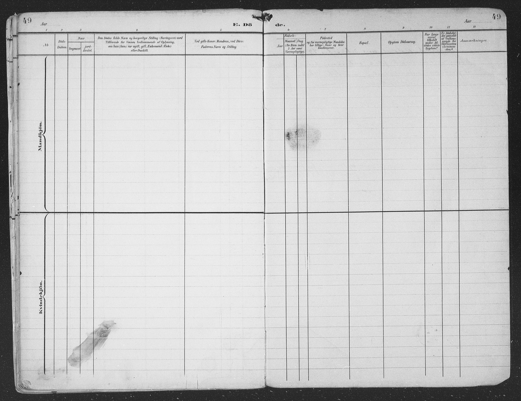 SAT, Ministerialprotokoller, klokkerbøker og fødselsregistre - Nordland, 866/L0940: Ministerialbok nr. 866A03, 1902-1926, s. 49