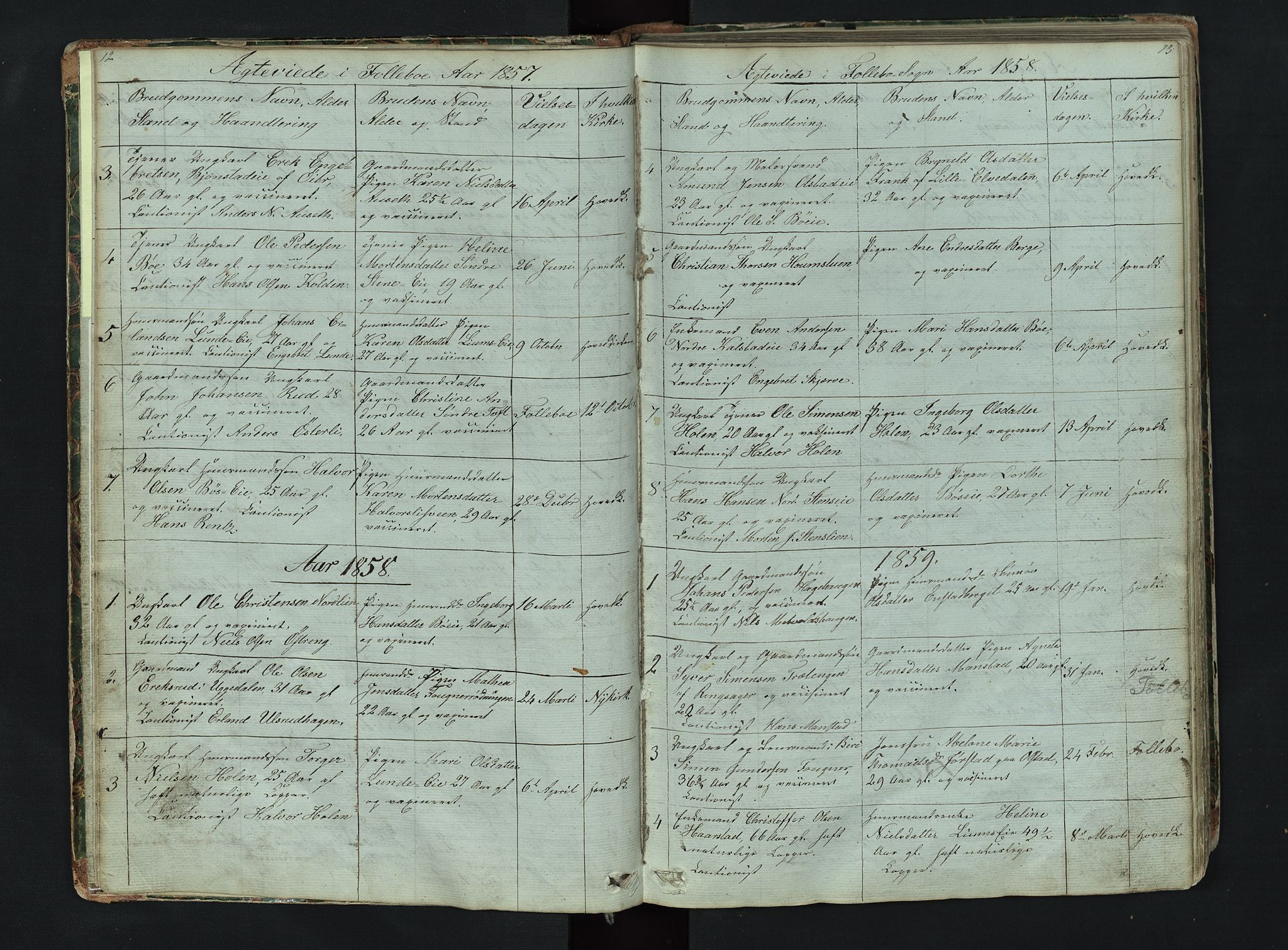 SAH, Gausdal prestekontor, Klokkerbok nr. 6, 1846-1893, s. 12-13