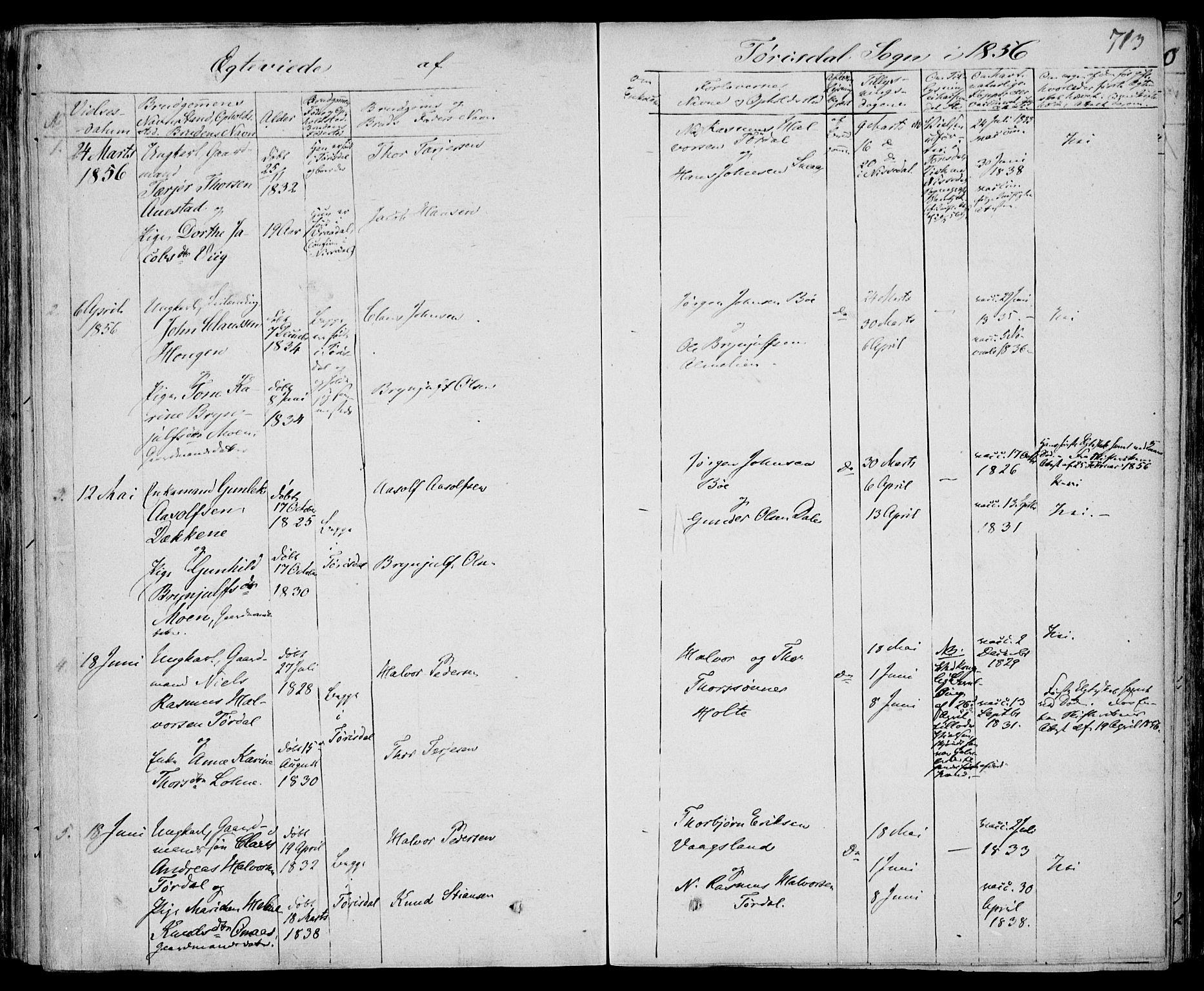 SAKO, Drangedal kirkebøker, F/Fa/L0007b: Ministerialbok nr. 7b, 1837-1856, s. 713