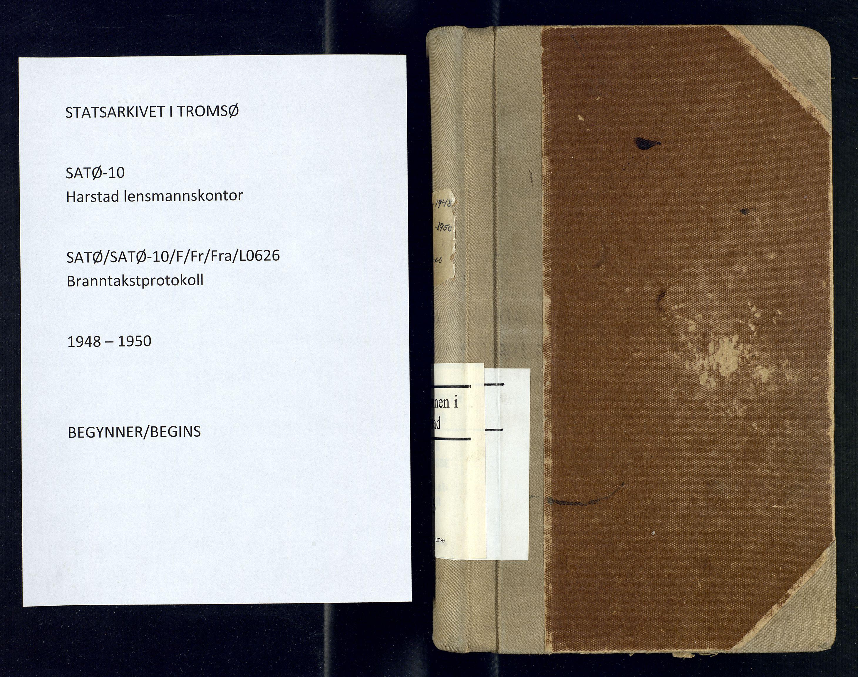 SATØ, Harstad lensmannskontor, F/Fr/Fra/L0626: Branntakstprotokoll, 1948-1950