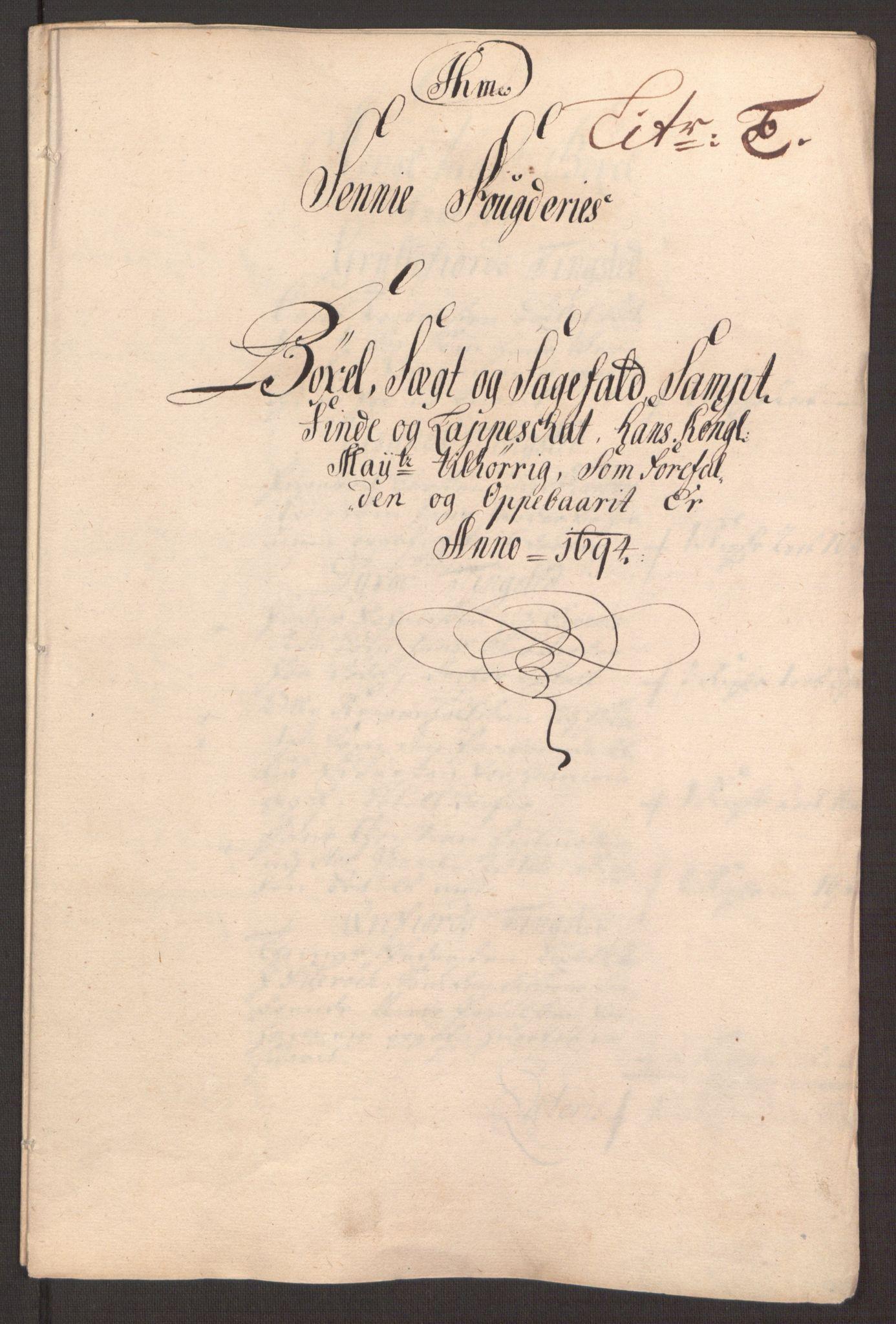 RA, Rentekammeret inntil 1814, Reviderte regnskaper, Fogderegnskap, R68/L4753: Fogderegnskap Senja og Troms, 1694-1696, s. 59