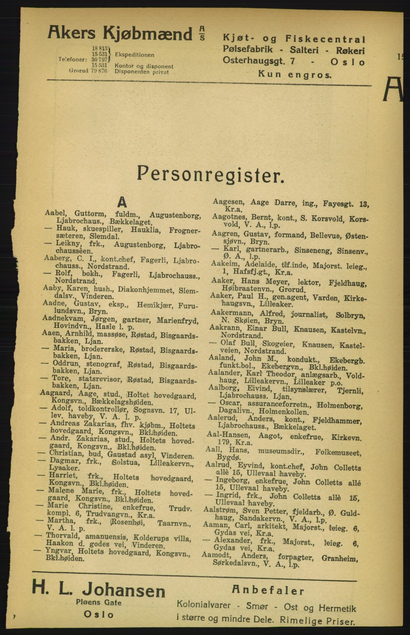 PUBL, Aker adressebok/adressekalender, 1924-1925, s. 15