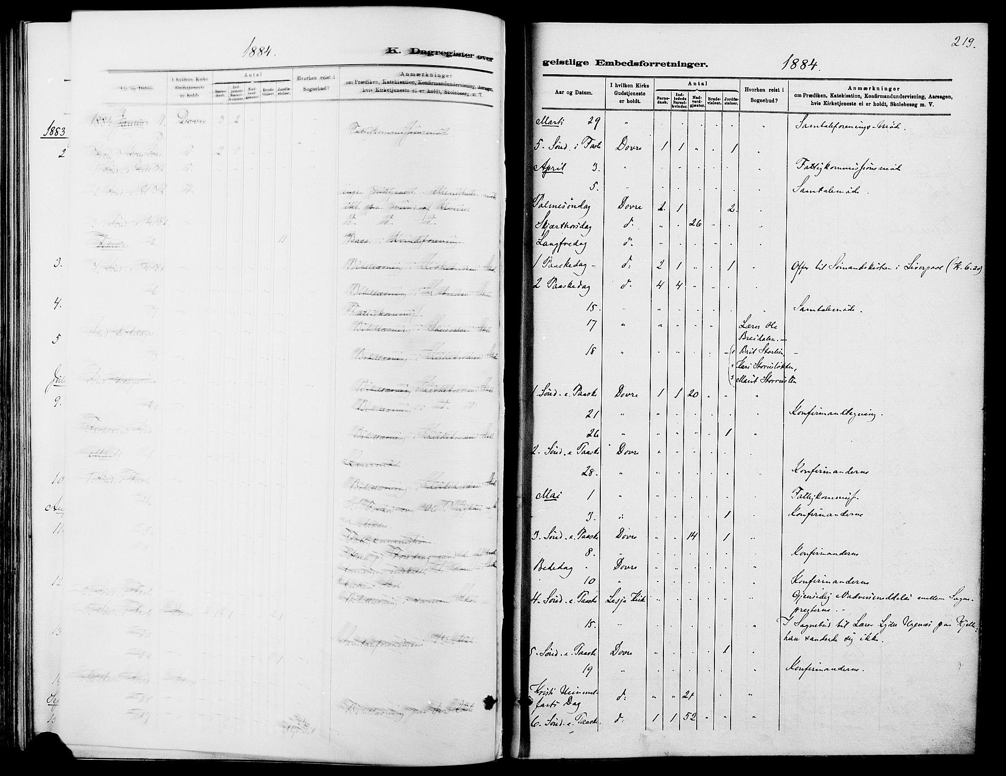 SAH, Dovre prestekontor, Ministerialbok nr. 2, 1879-1890, s. 219