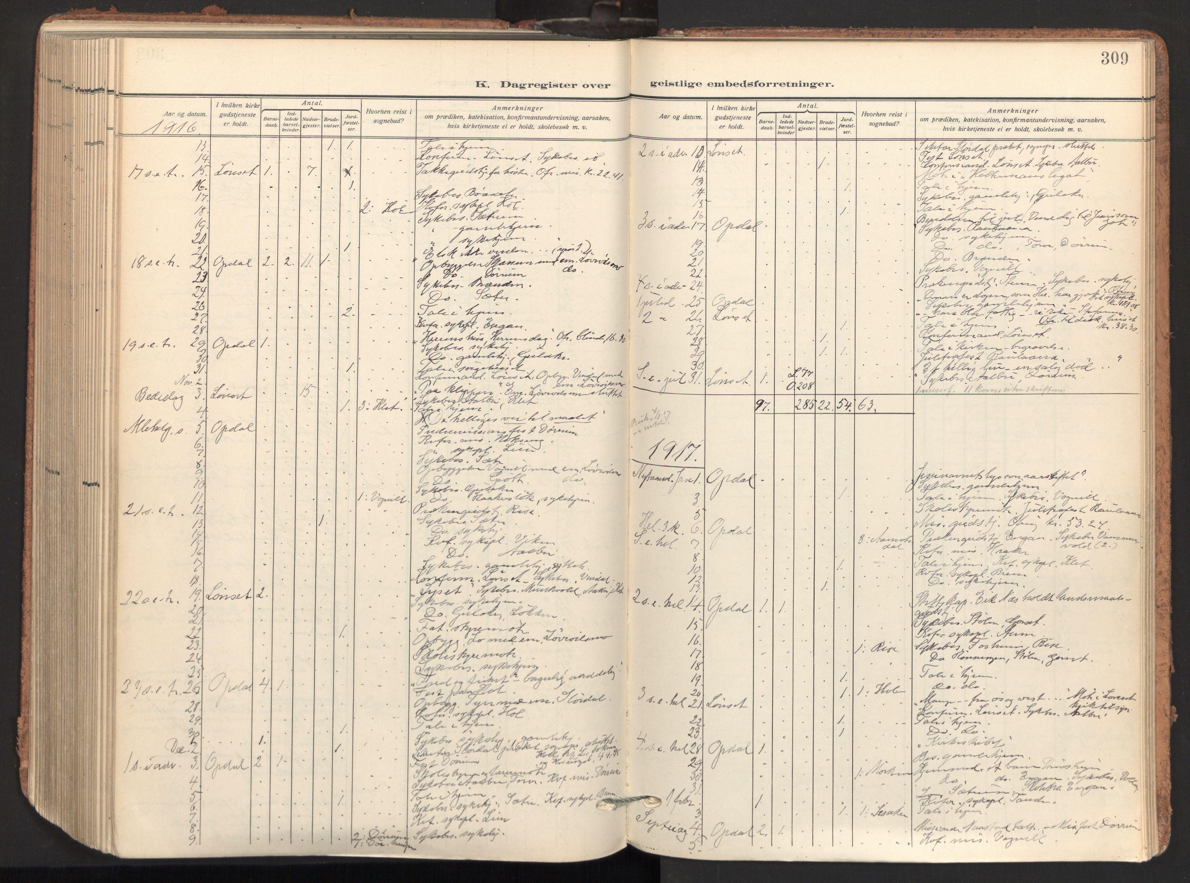 SAT, Ministerialprotokoller, klokkerbøker og fødselsregistre - Sør-Trøndelag, 678/L0909: Ministerialbok nr. 678A17, 1912-1930, s. 309