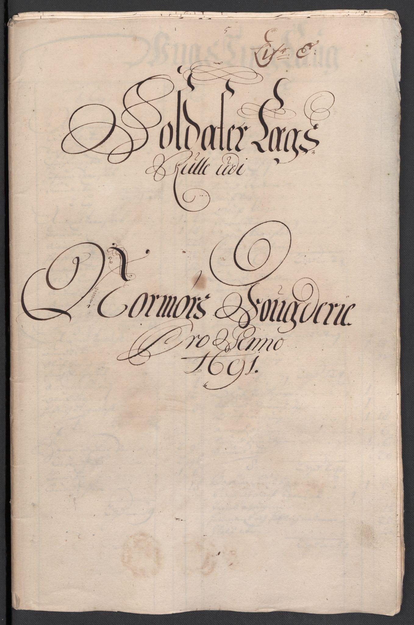 RA, Rentekammeret inntil 1814, Reviderte regnskaper, Fogderegnskap, R56/L3734: Fogderegnskap Nordmøre, 1690-1691, s. 312