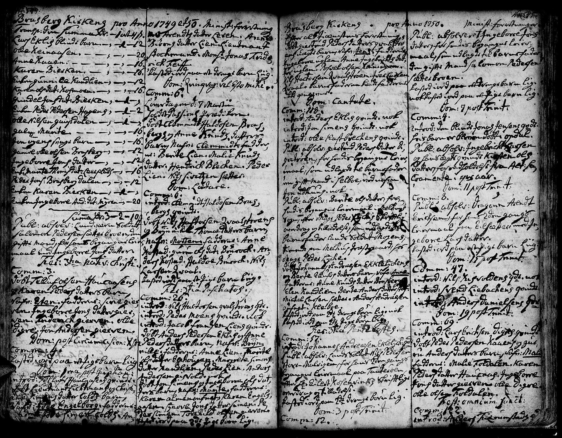 SAT, Ministerialprotokoller, klokkerbøker og fødselsregistre - Sør-Trøndelag, 606/L0278: Ministerialbok nr. 606A01 /4, 1727-1780, s. 544-545