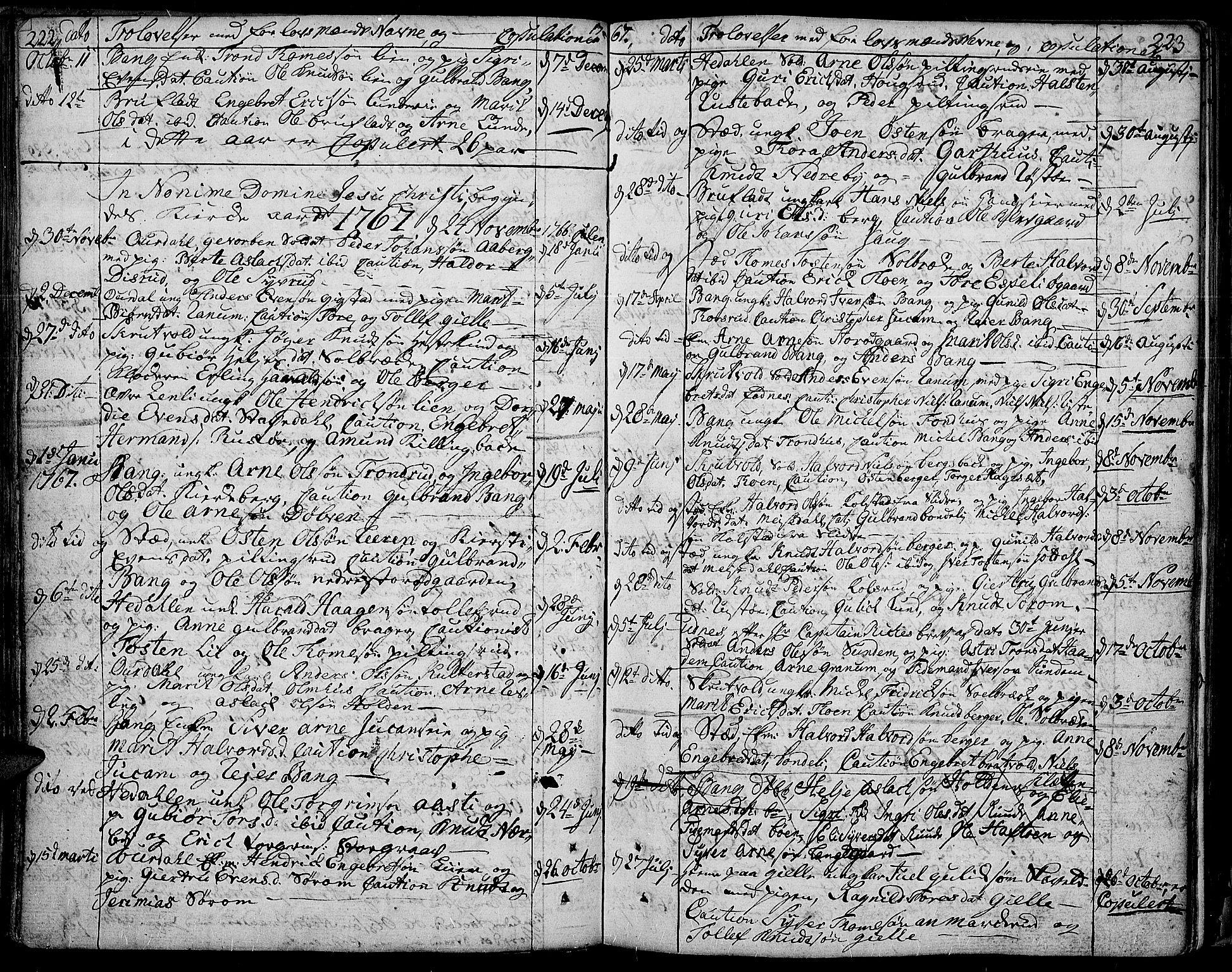 SAH, Aurdal prestekontor, Ministerialbok nr. 5, 1763-1781, s. 222-223