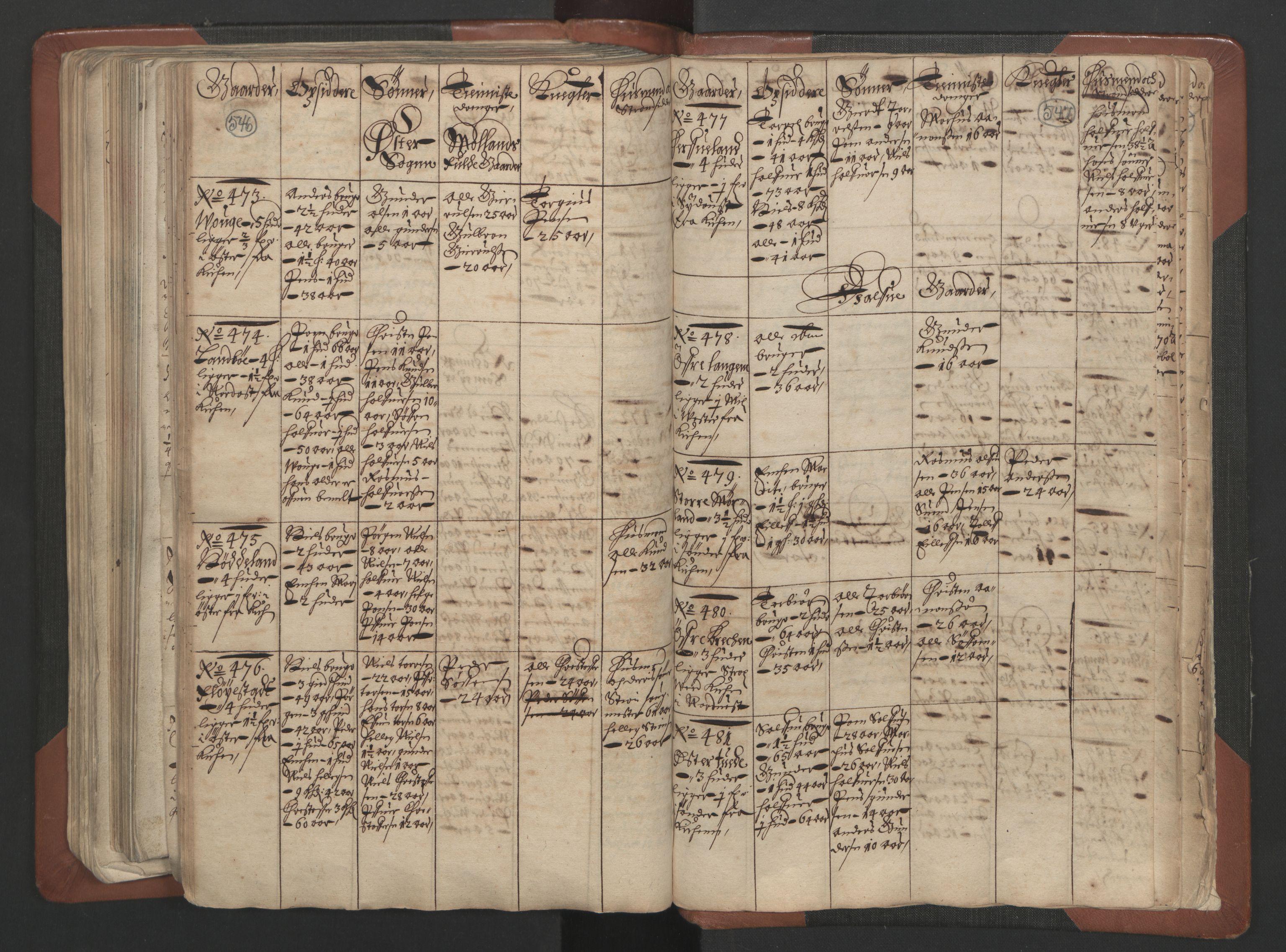 RA, Fogdenes og sorenskrivernes manntall 1664-1666, nr. 7: Nedenes fogderi, 1664-1666, s. 546-547